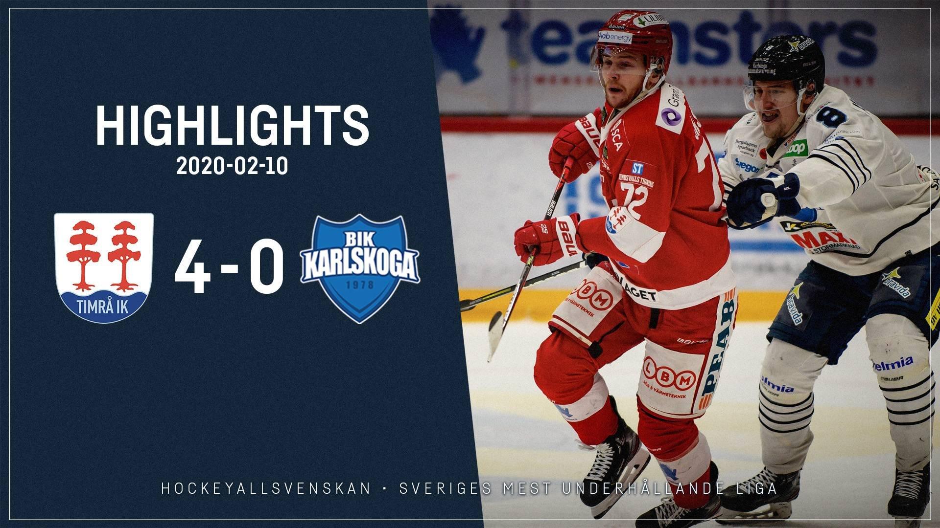 2020-02-10 Timrå - Karlskoga 4-0