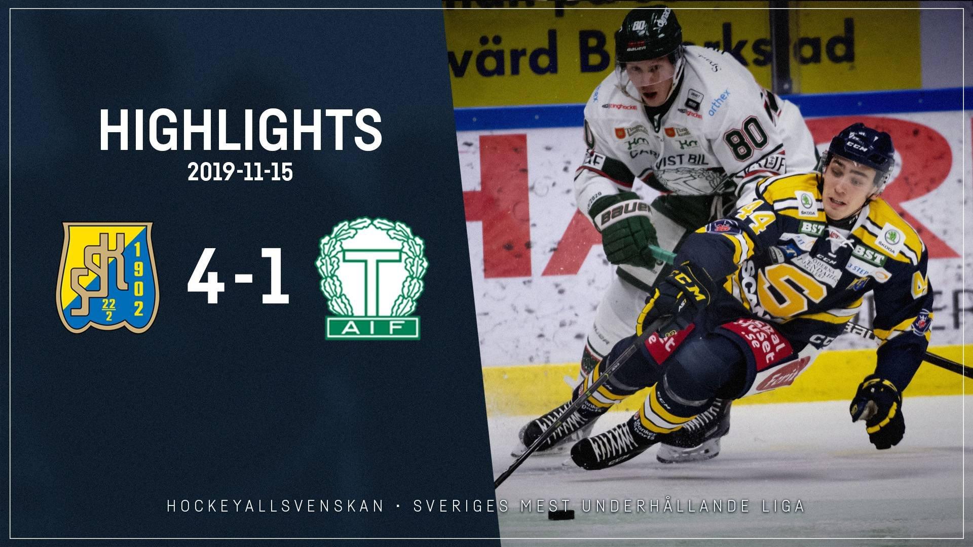 2019-11-15 Södertälje - Tingsryd 4-1