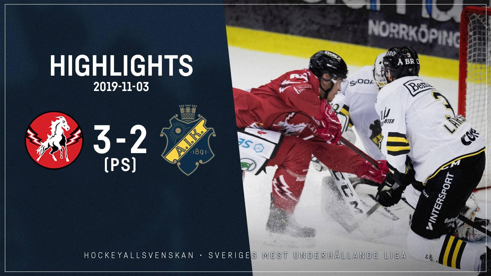 2019-11-03 Vita Hästen - AIK 3-2 (PS)