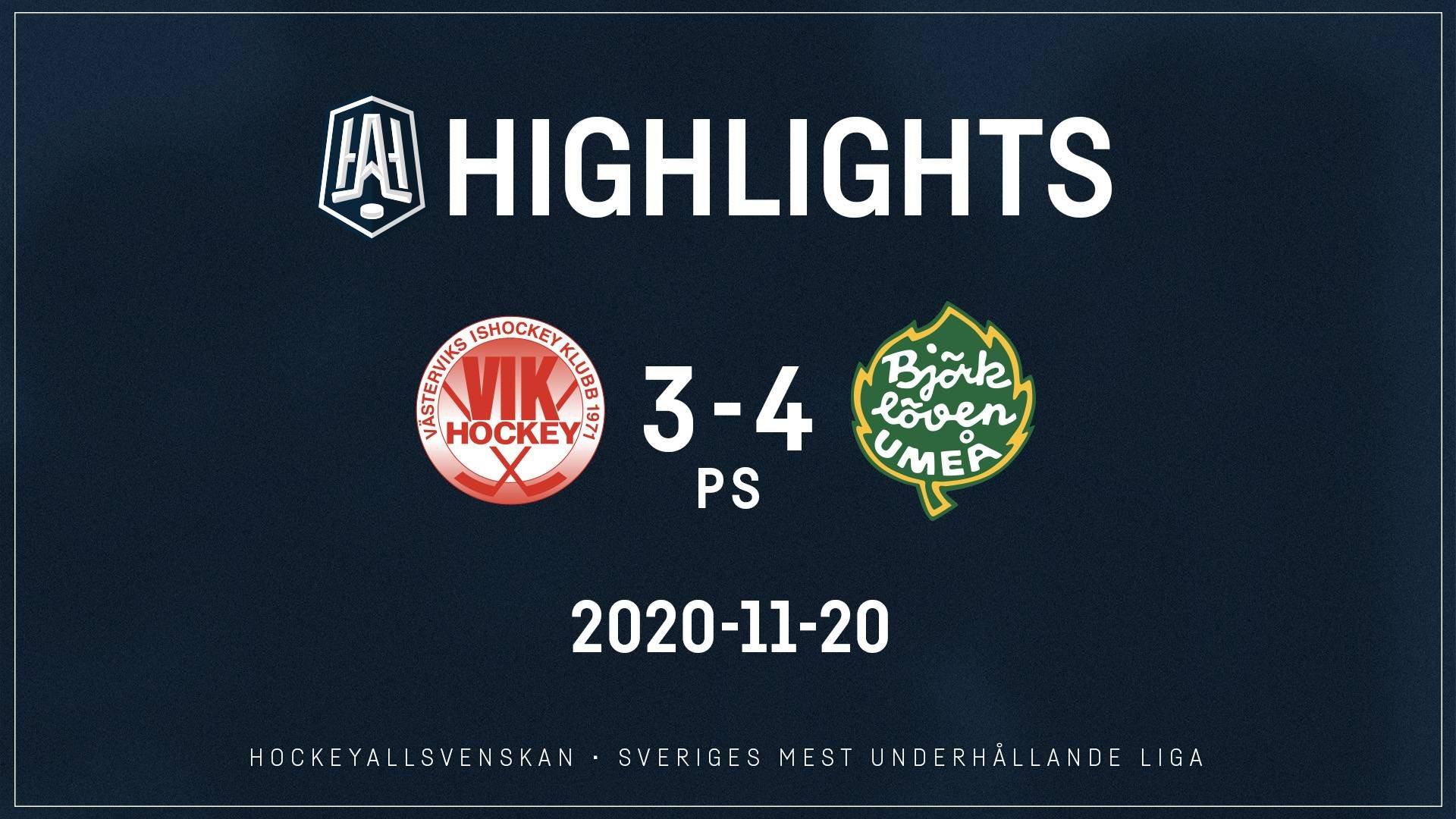 2020-11-20 Västervik - Björklöven 3-4 (PS)