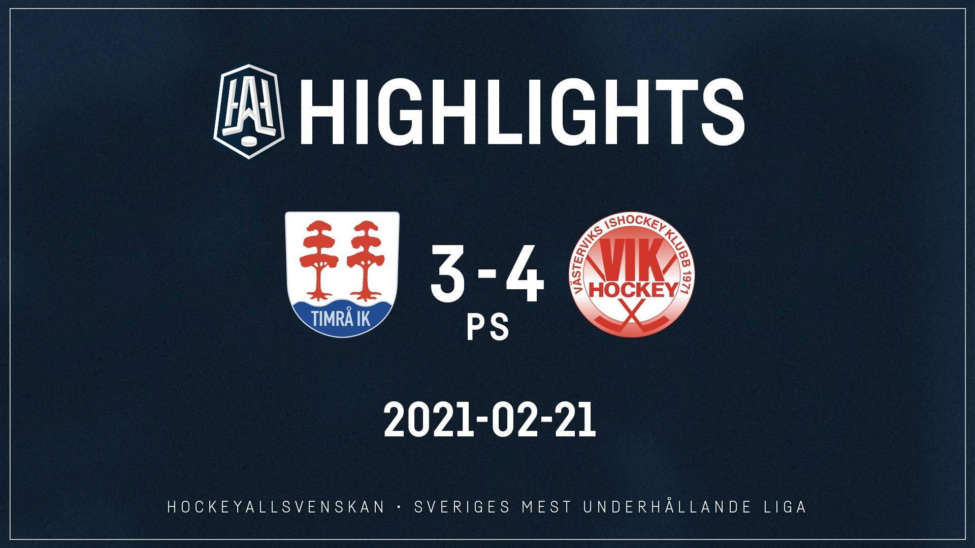 2021-02-21 Timrå - Västervik 3-4 (PS)