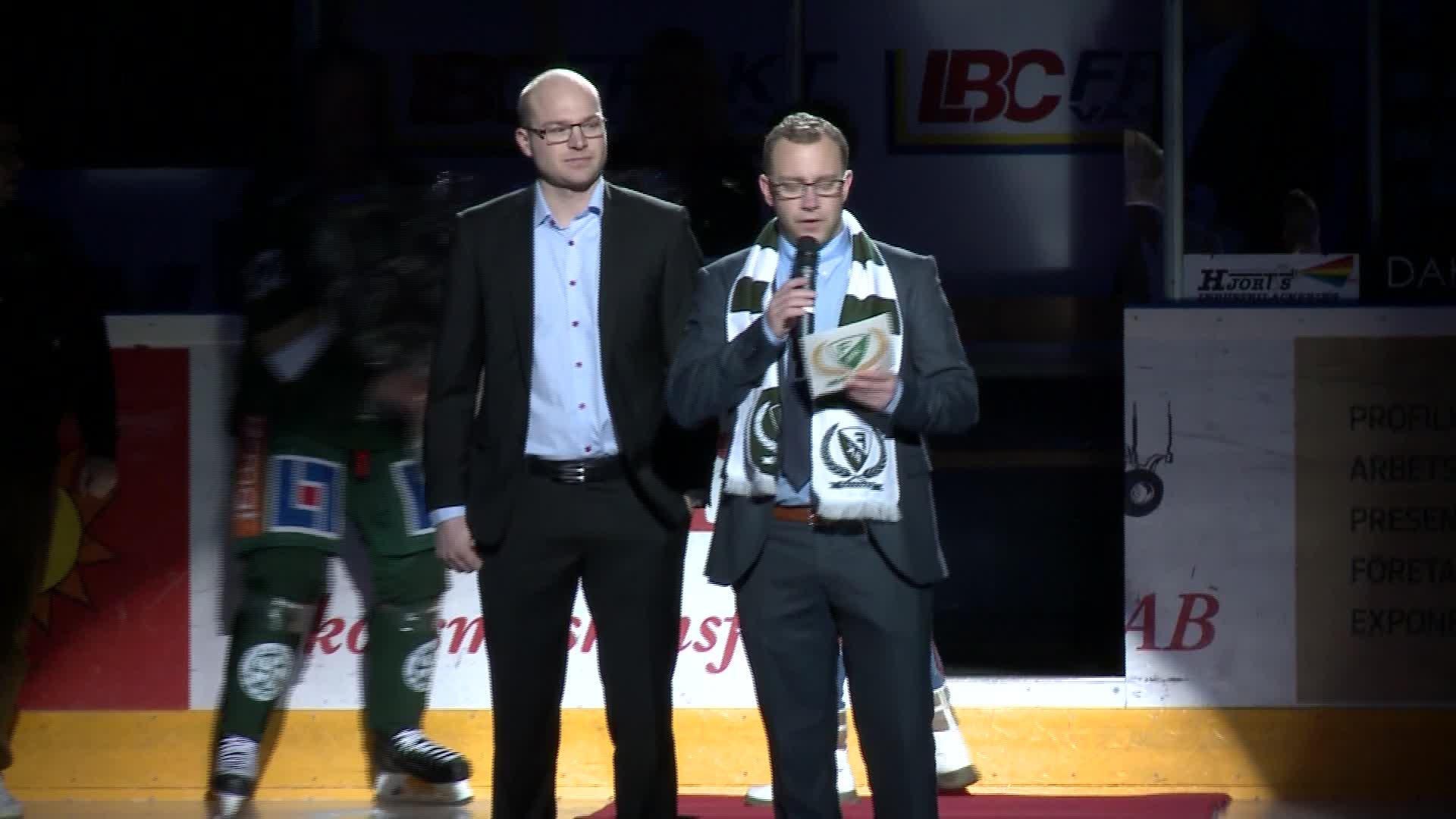 Marius Holtet hyllades i Karlstad