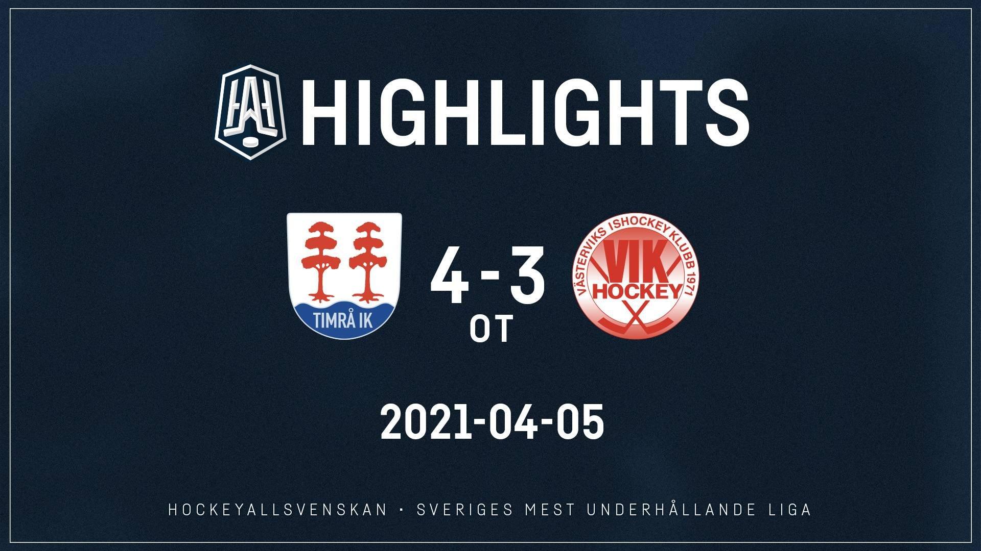 2021-04-05 Timrå - Västervik 4-3 (OT)