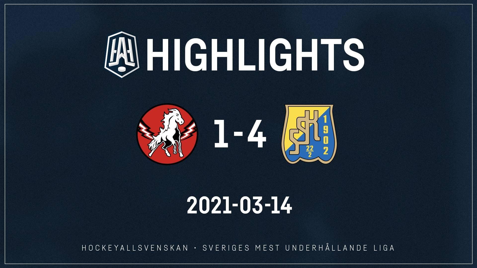 2021-03-14 Vita Hästen - Södertälje 1-4