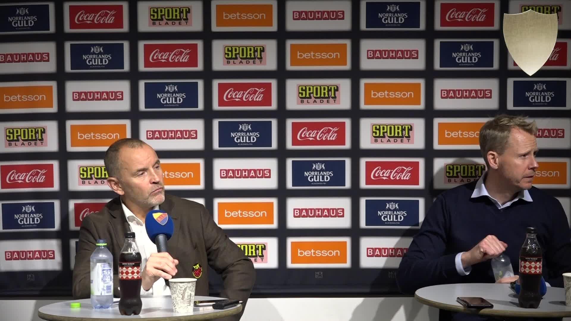 Presskonferens efter DIF-Luleå