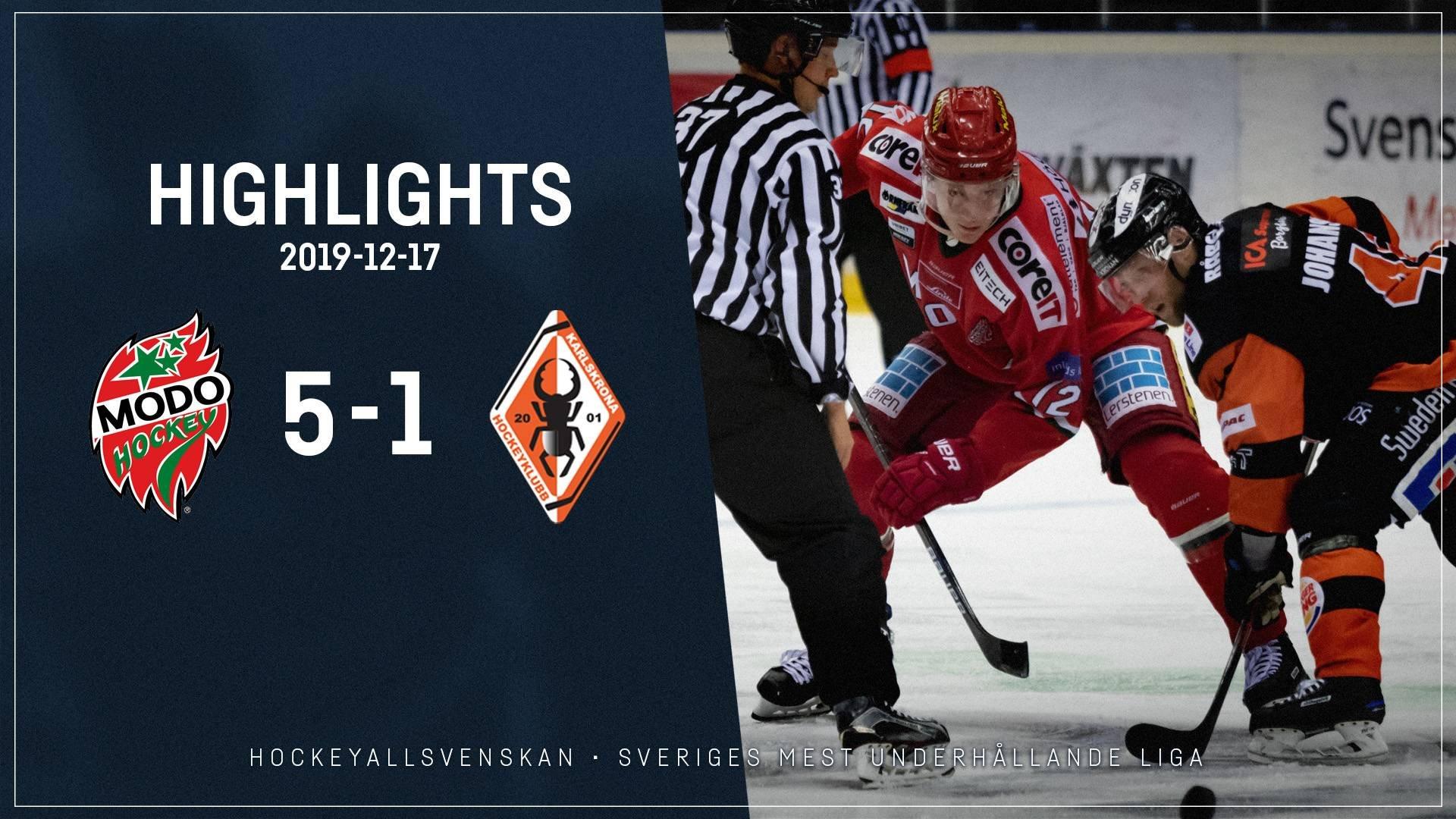 2019-12-17 MODO - Karlskrona 5-1