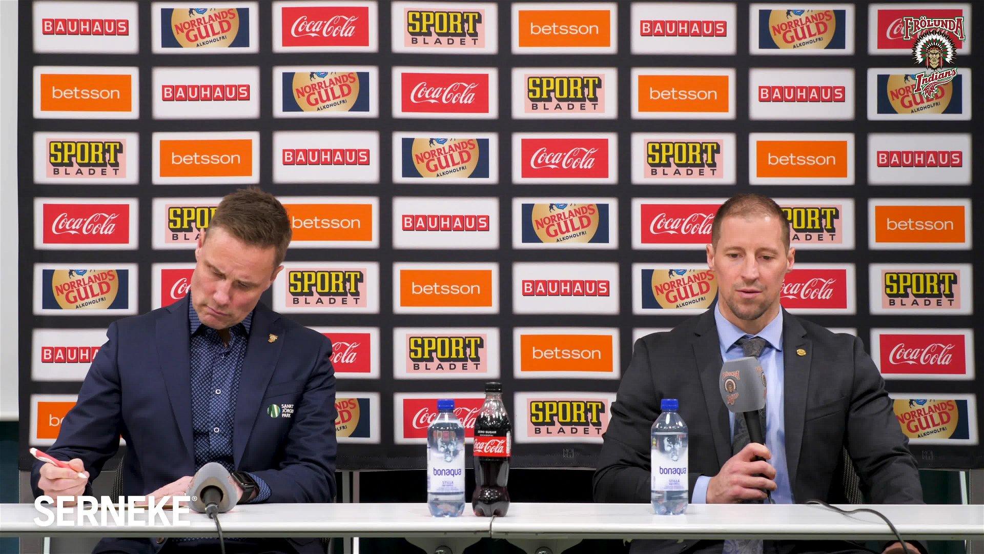 Presskonferens efter fjärde kvartsfinalen