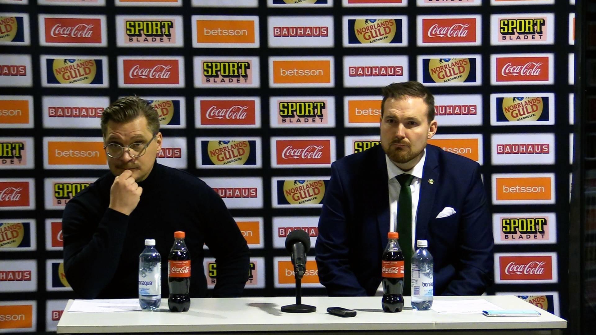 Presskonferens efter Färjestad BK-Leksands IF