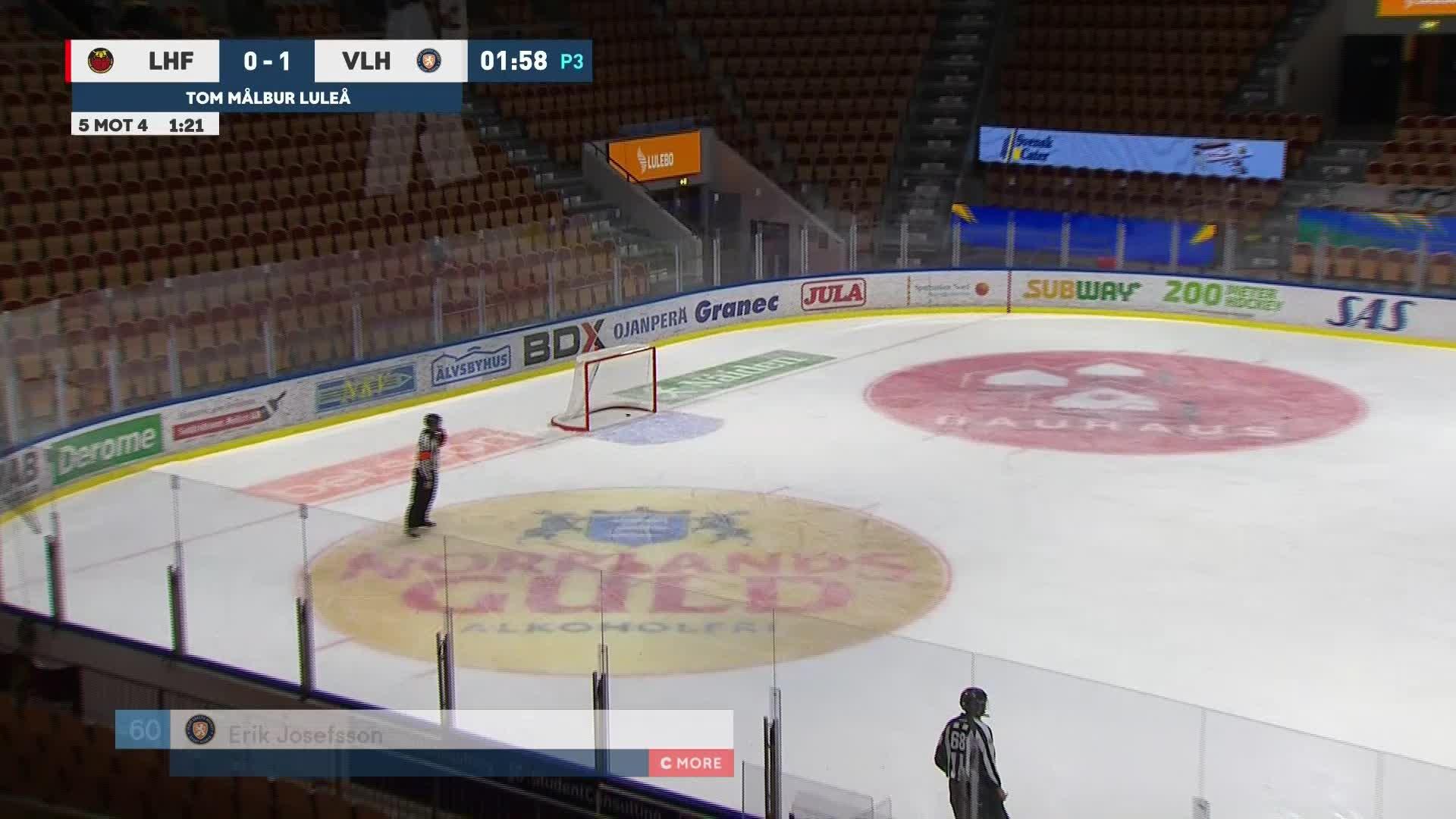 Luleå Hockey - Växjö Lakers 0-2