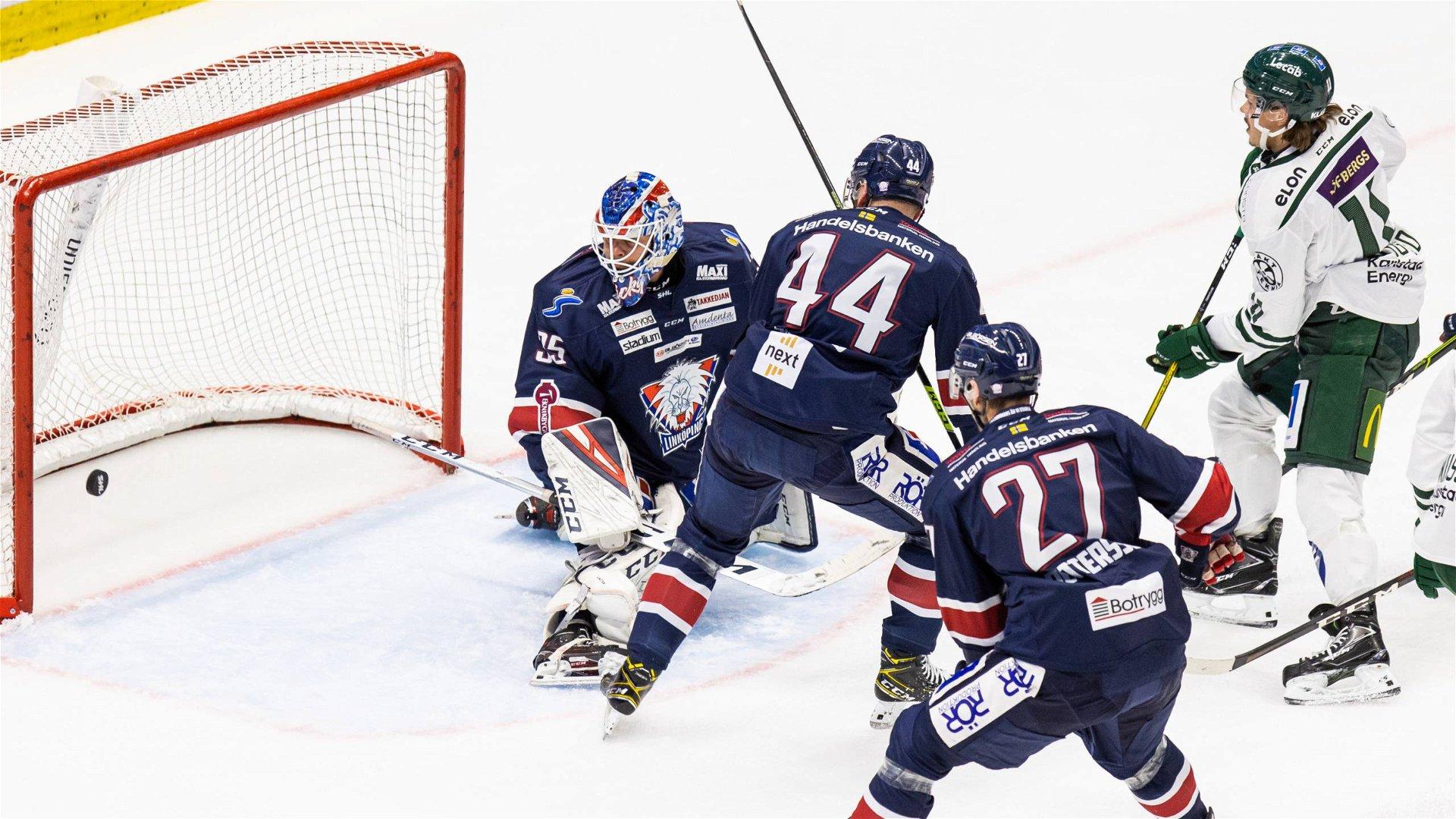 Färjestad gör ett mål i segermatchen mot Linköping.