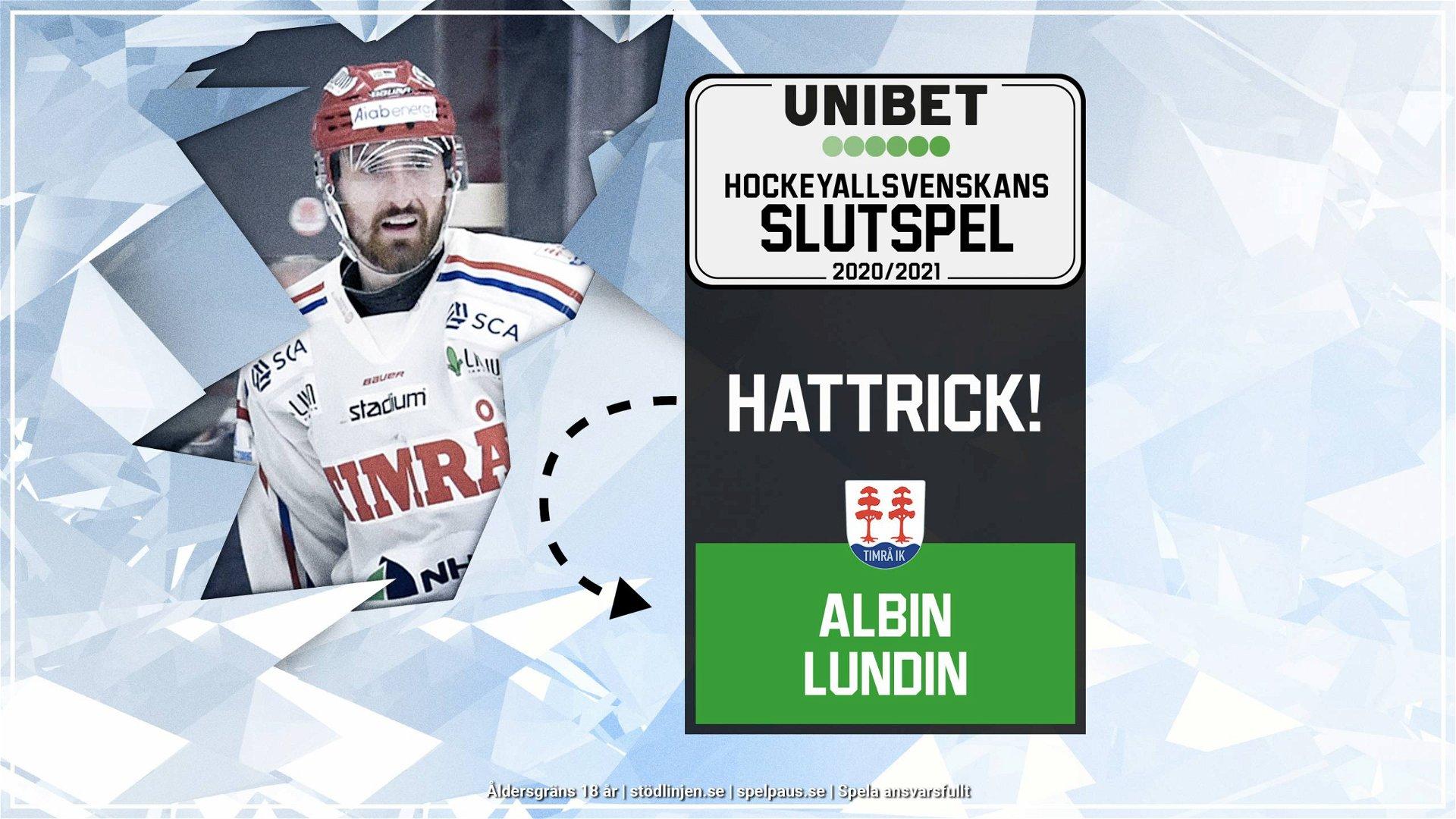 Hattrick: Albin Lundin, Timrå