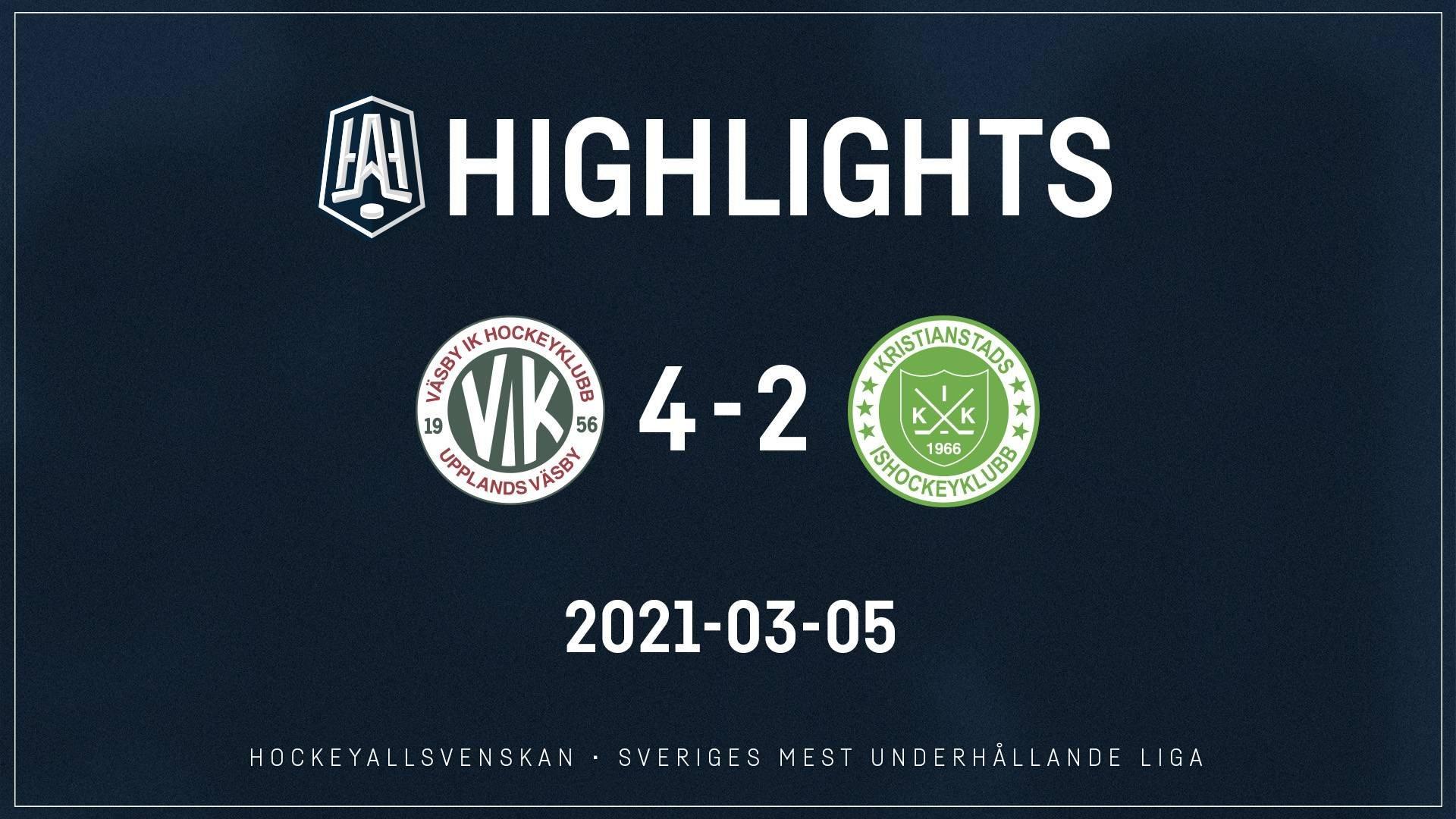2021-03-05 Väsby - Kristianstad 4-2