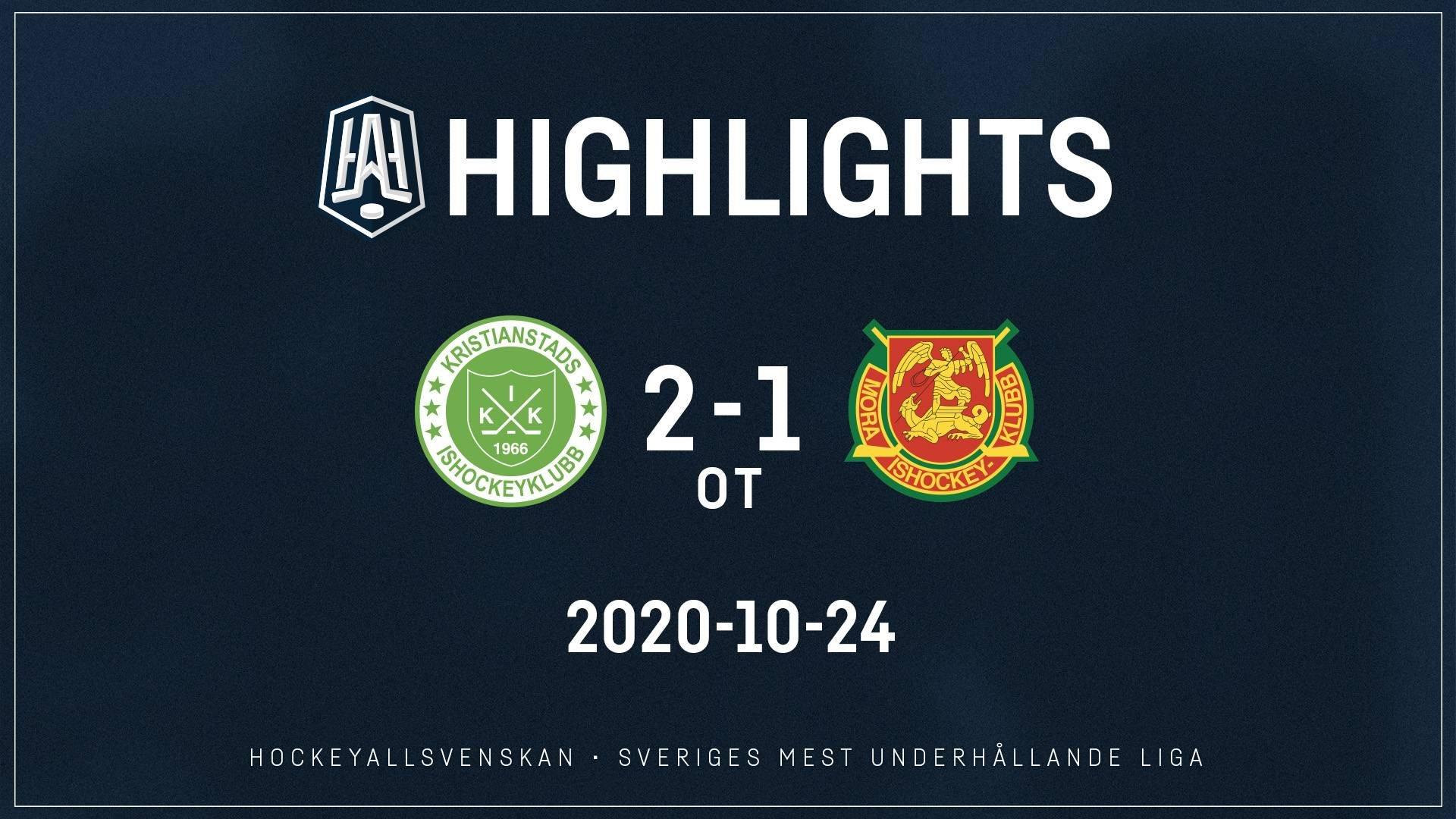 2020-10-24 Kristianstad - Mora 2-1 (OT)