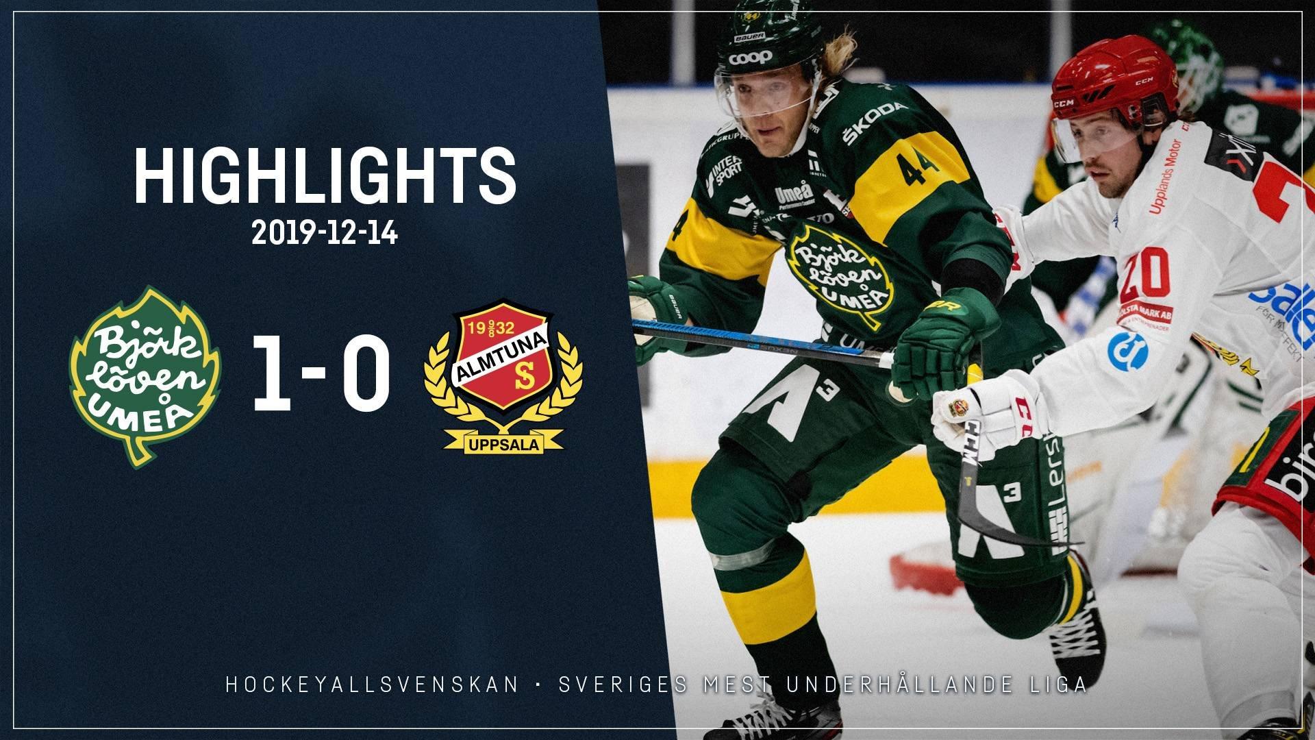 2019-12-14 Björklöven - Almtuna 1-0