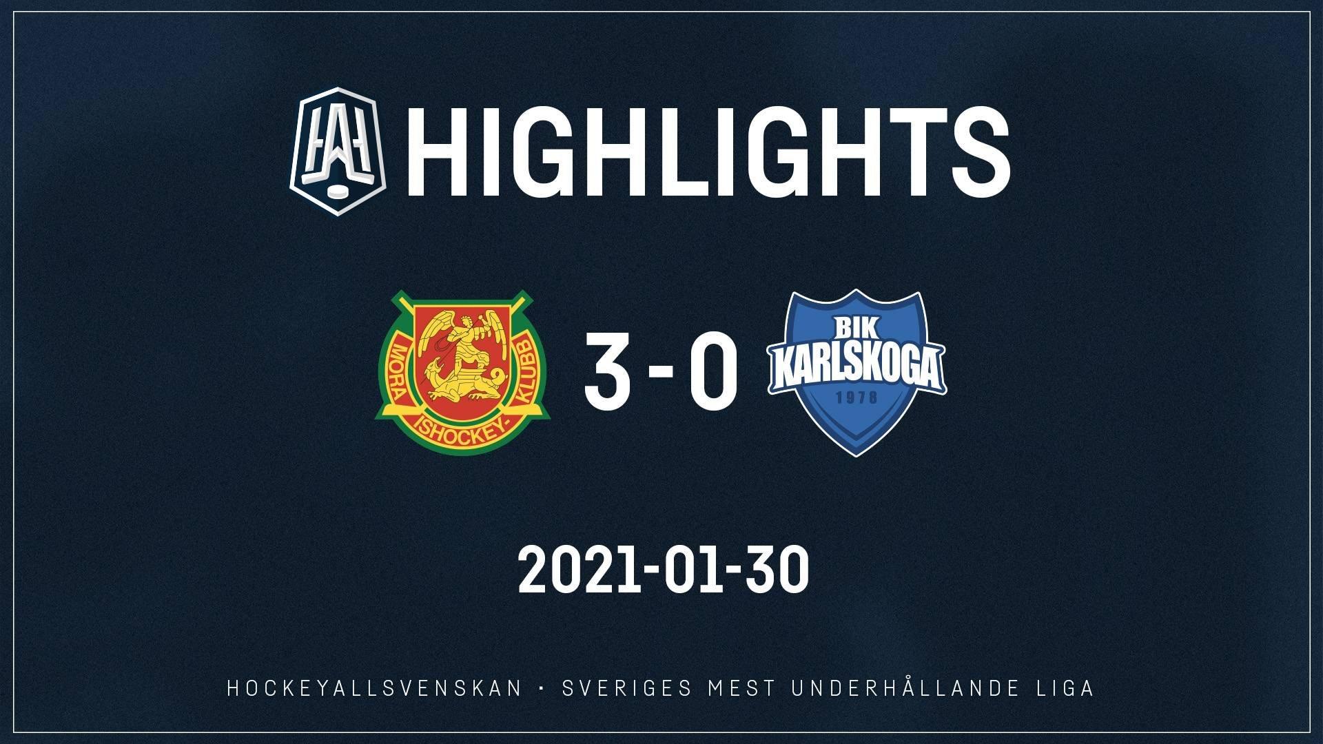2021-01-30 Mora - Karlskoga 3-0