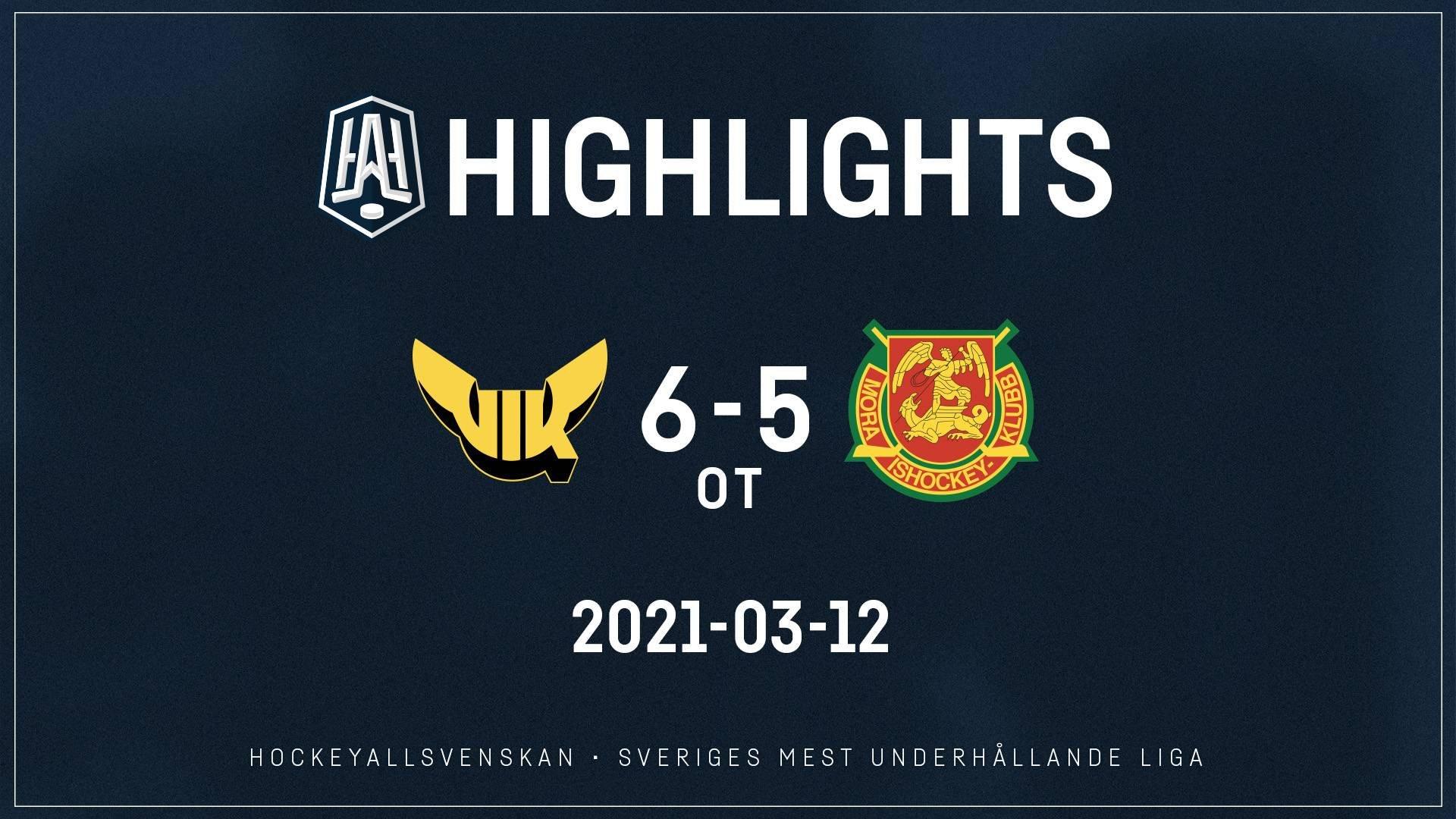 2021-03-12 Västerås - Mora 6-5 (OT)