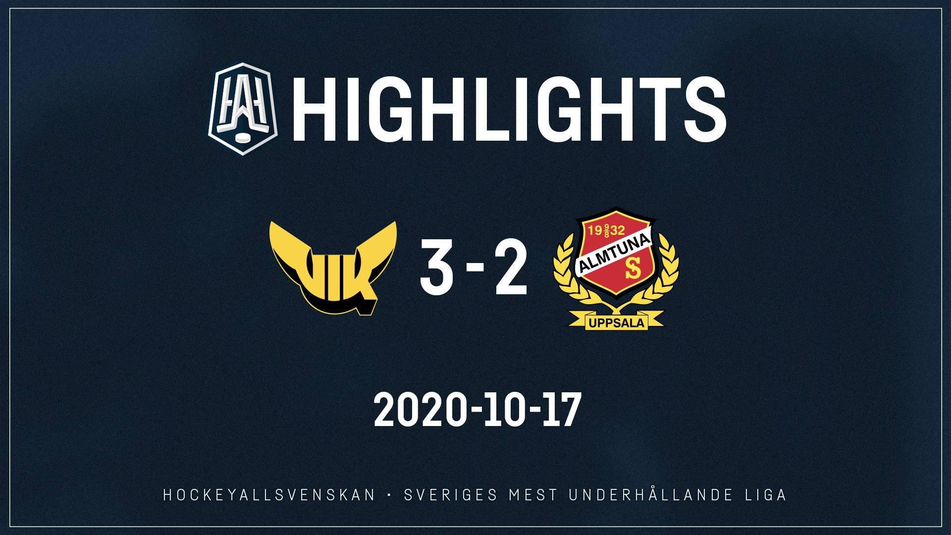 2020-10-17 Västerås - Almtuna 3-2