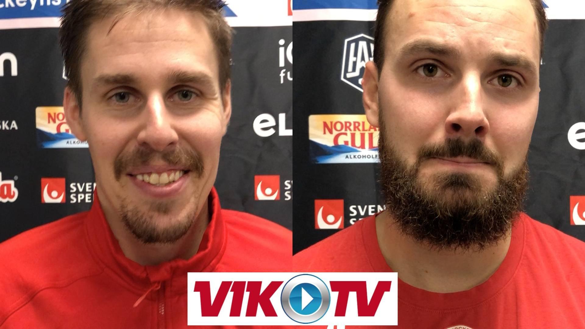 Intervjuer efter segern mot AIK.