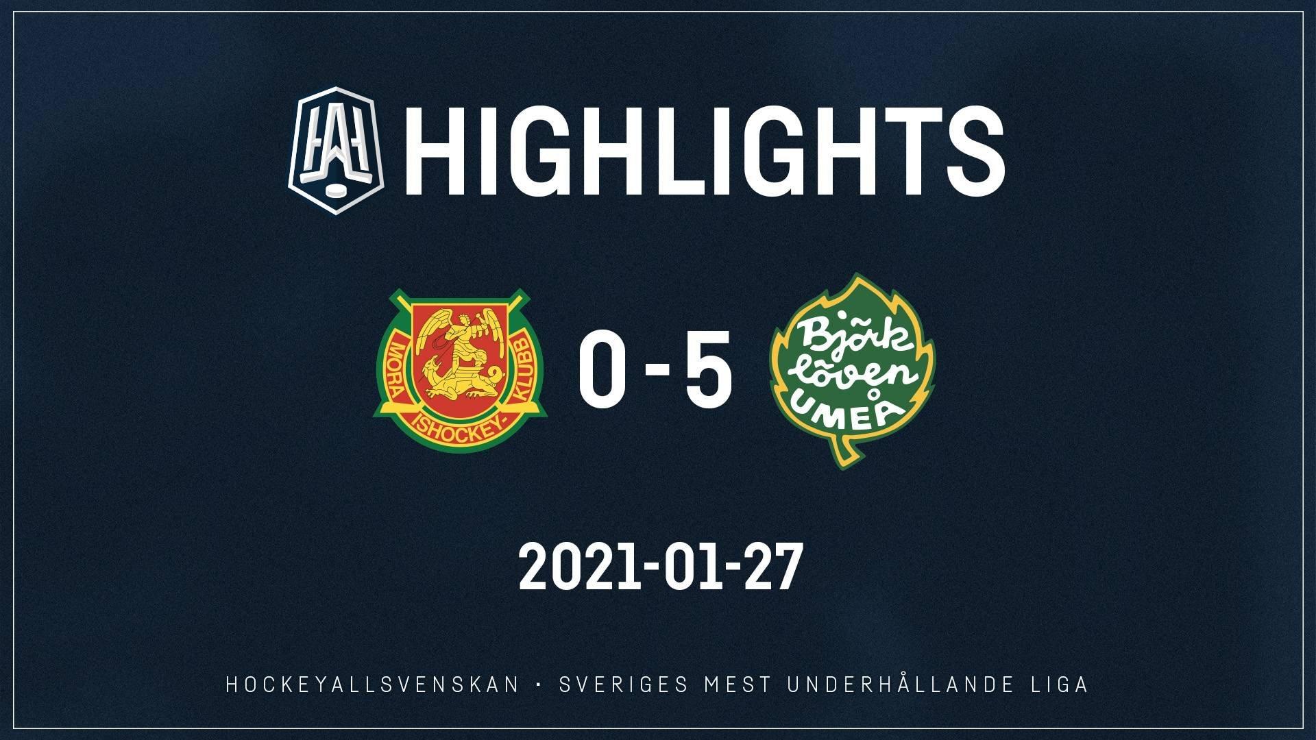 2021-01-27 Mora - Björklöven 0-5