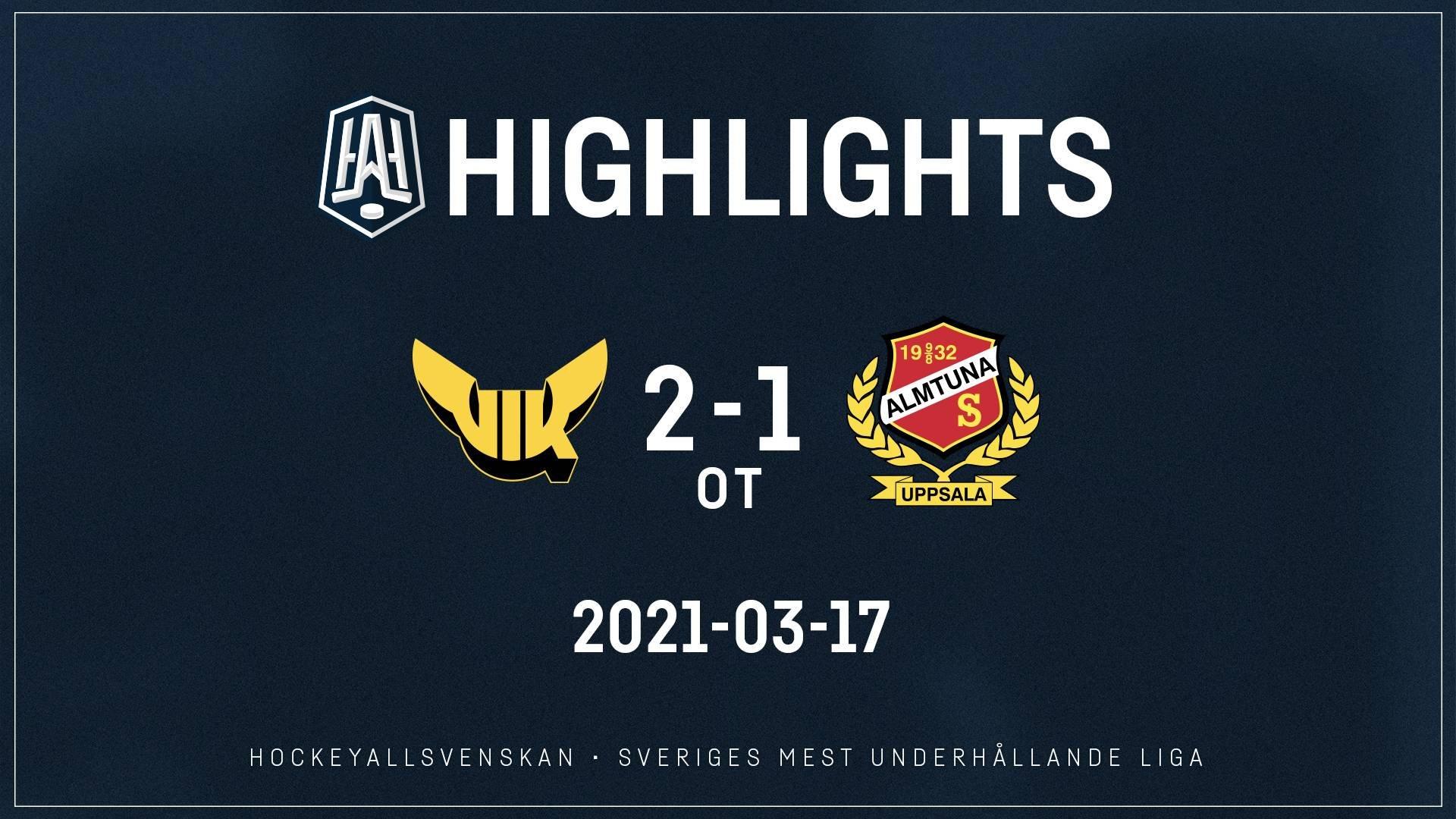 2021-03-17 Västerås - Almtuna 2-1 (OT)