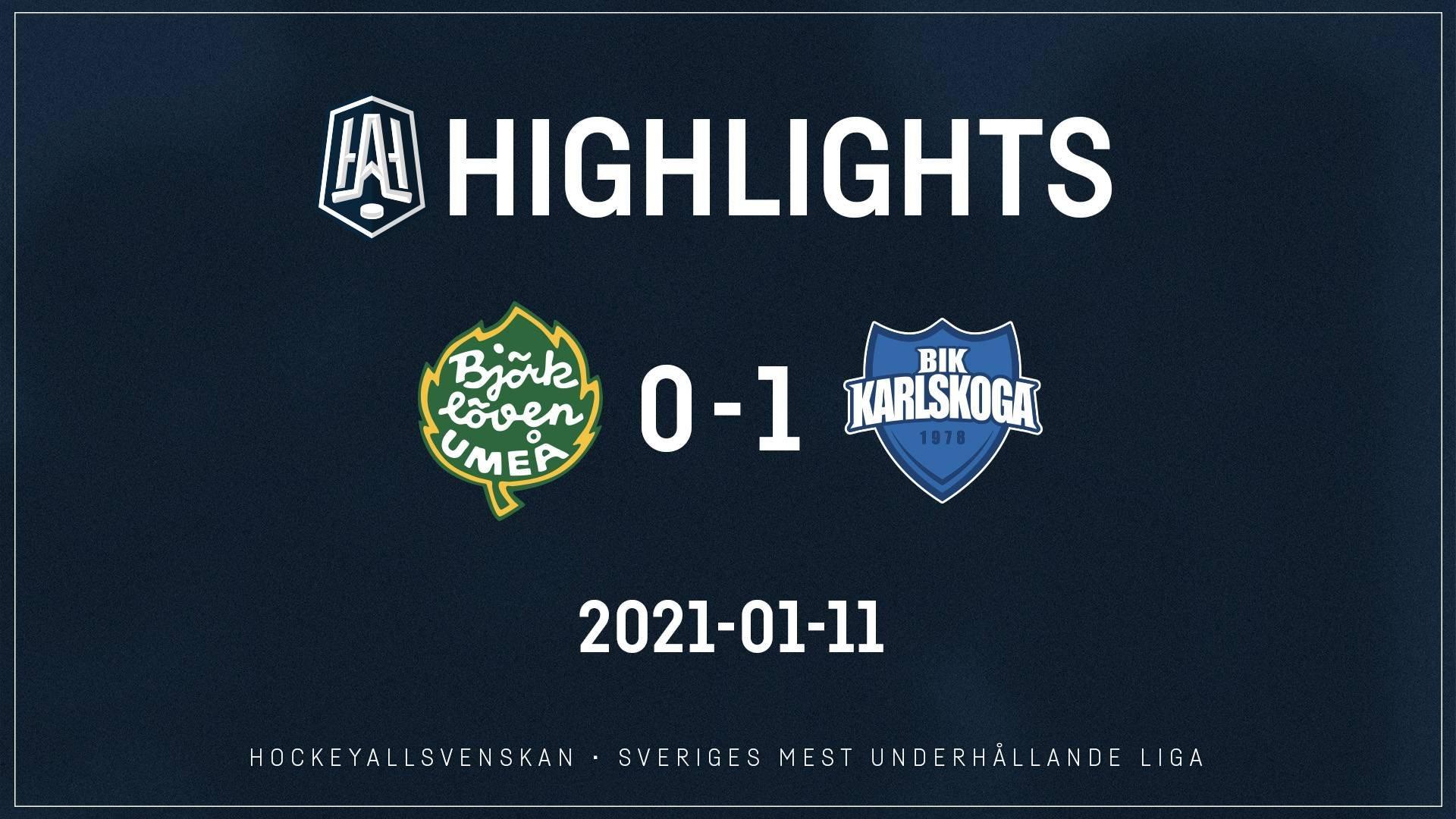 2021-01-11 Björklöven - Karlskoga 0-1