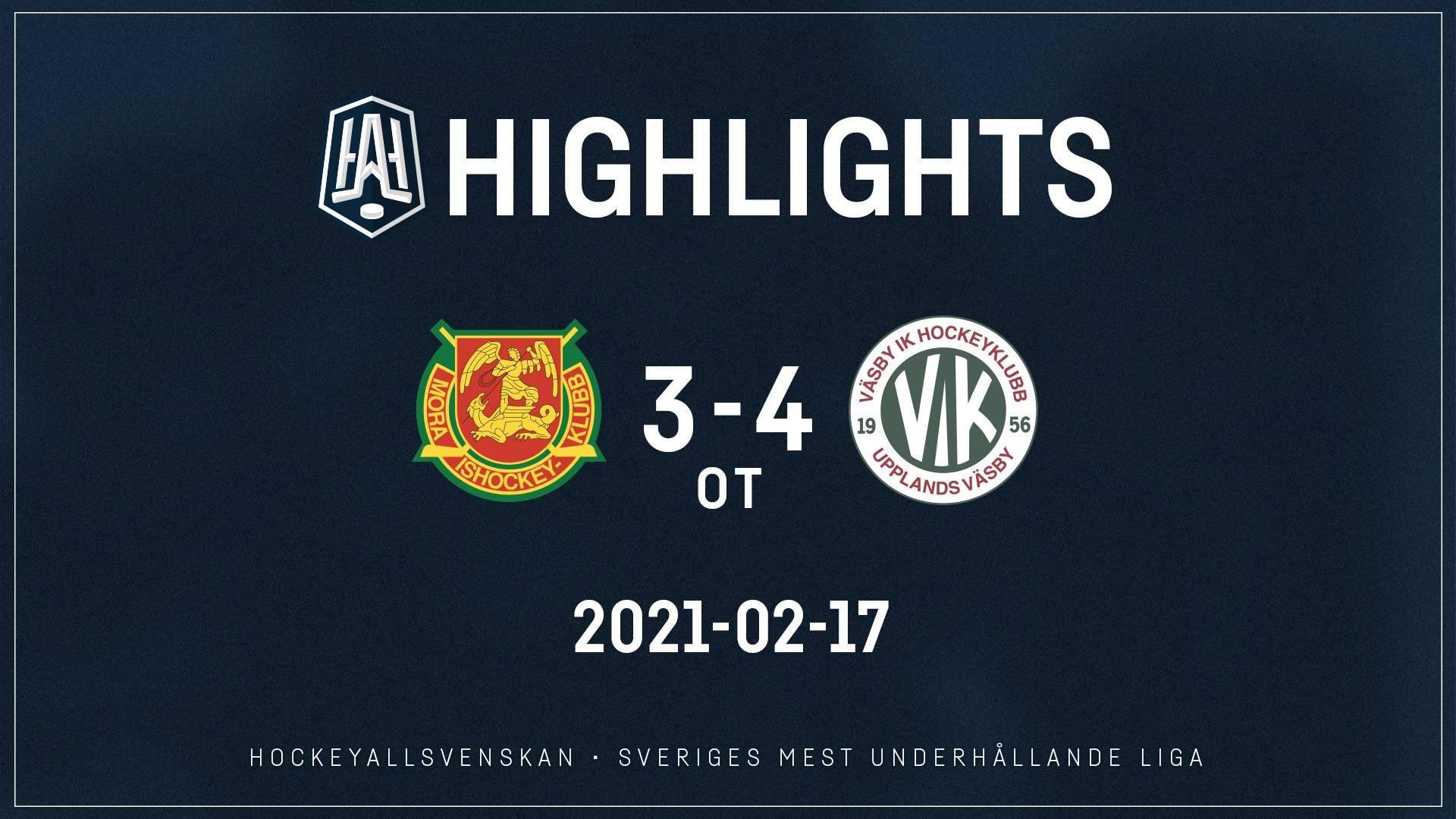 2021-02-17 Mora - Väsby 3-4 (OT)