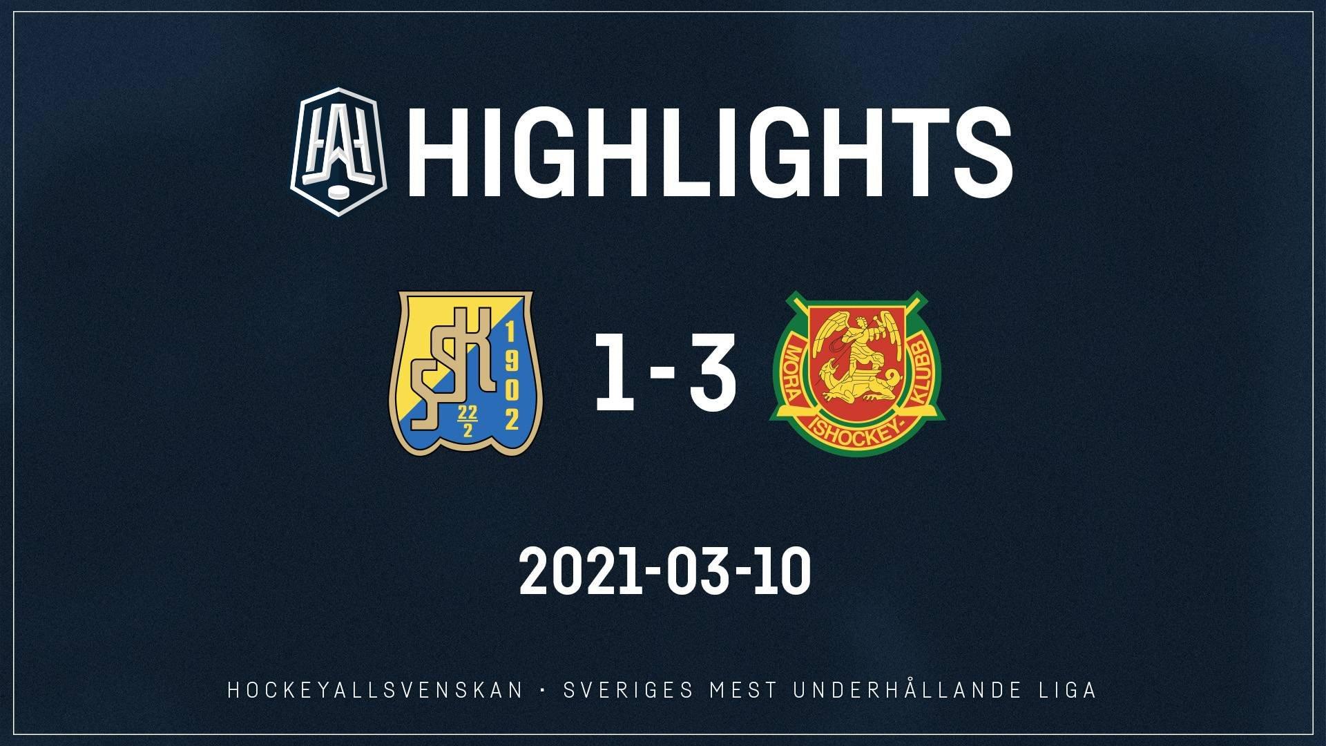 2021-03-10 Södertälje - Mora 1-3