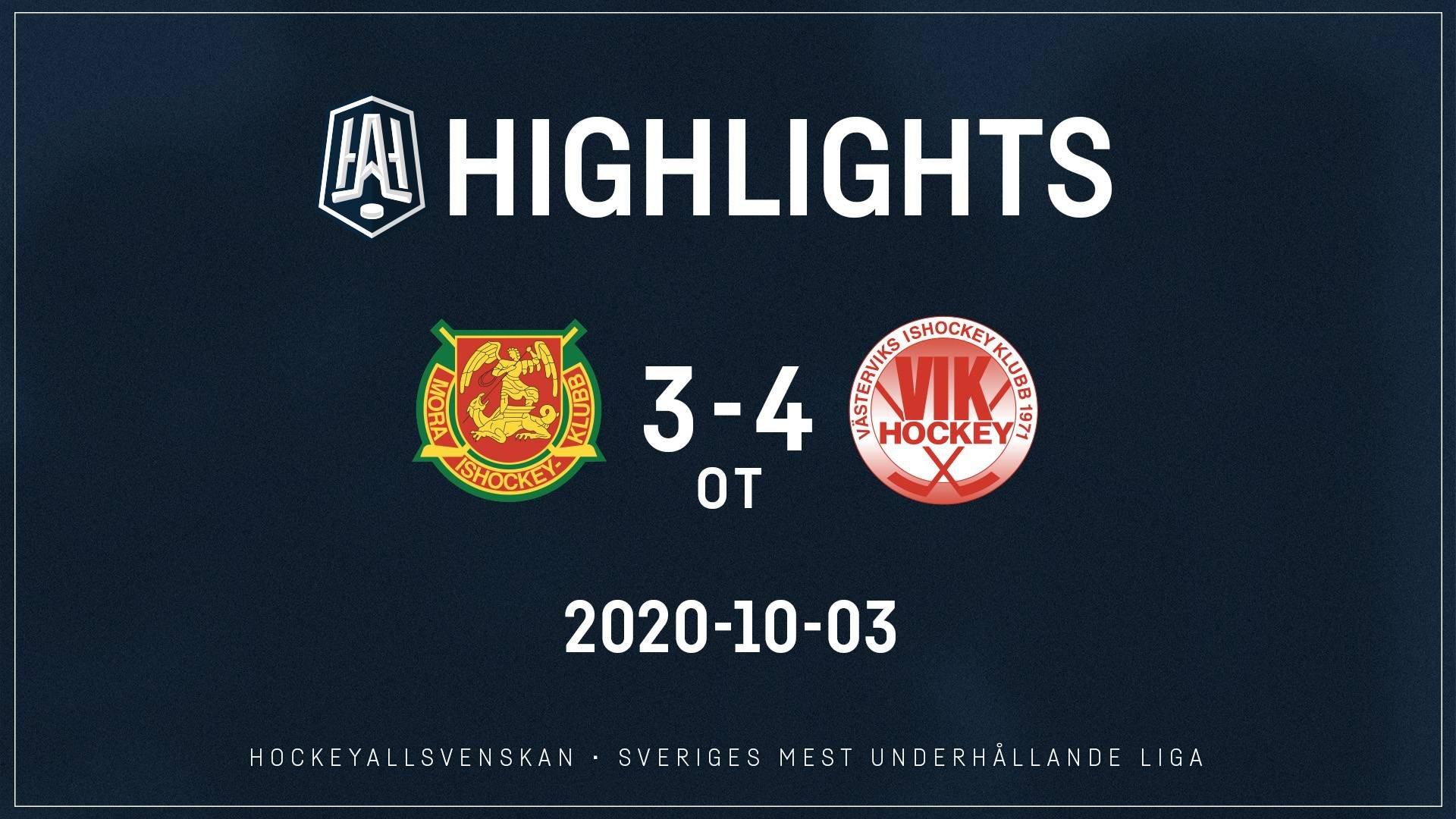 2020-10-03 Mora - Västervik 3-4 (ot)