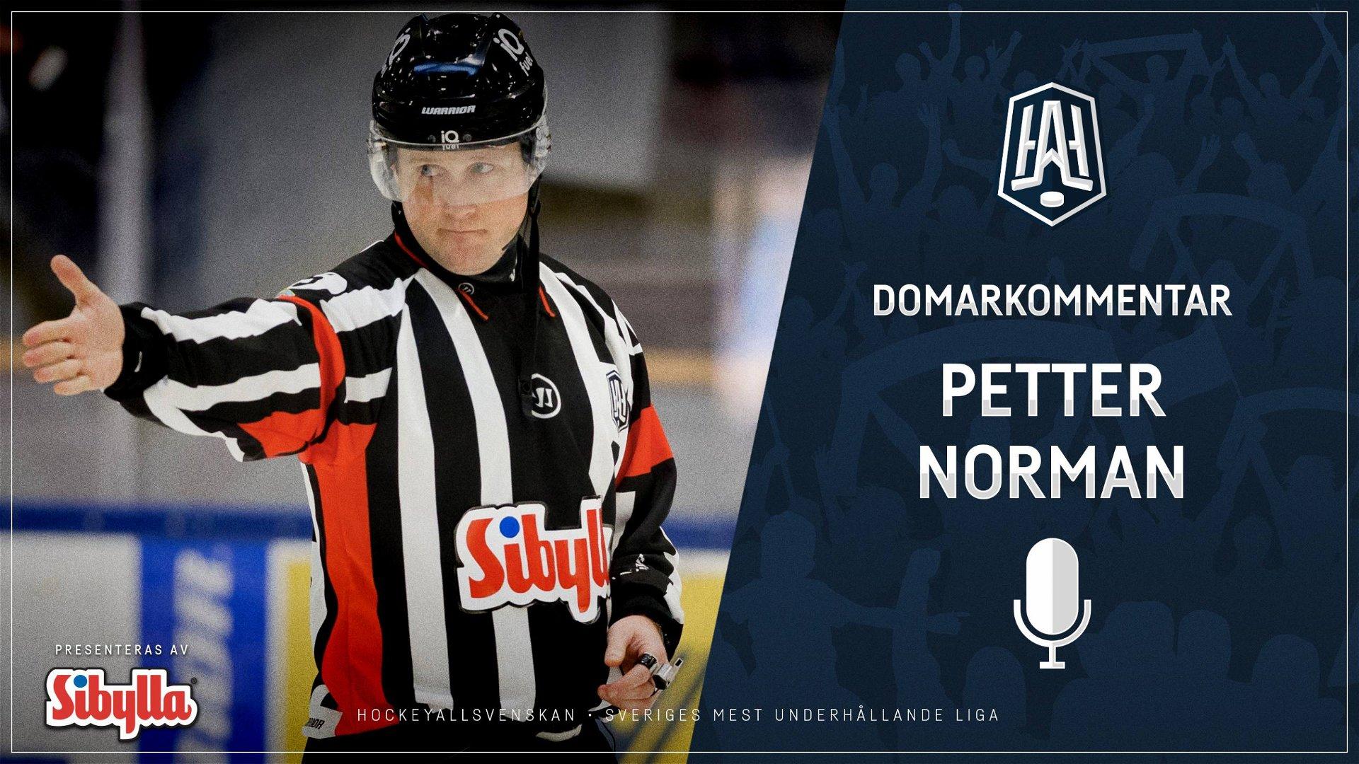 Domarkommentar: Petter Norman