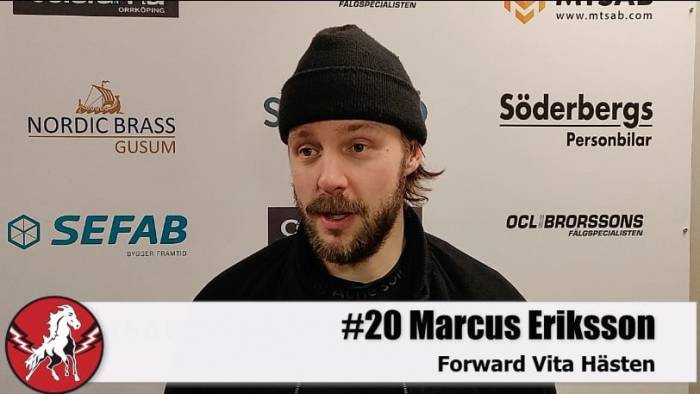 Marcus Eriksson efter Västerås