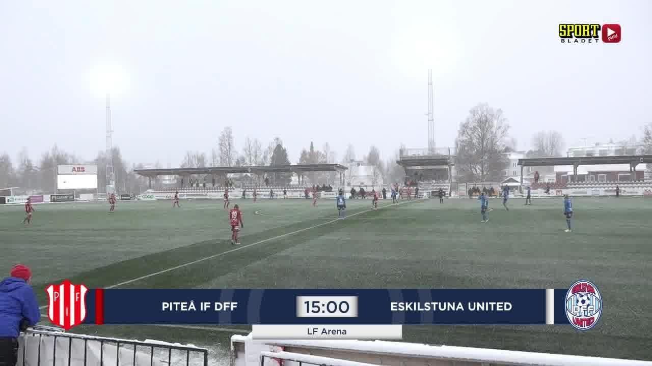Highlights: Piteå IF - Eskilstuna 18 okt