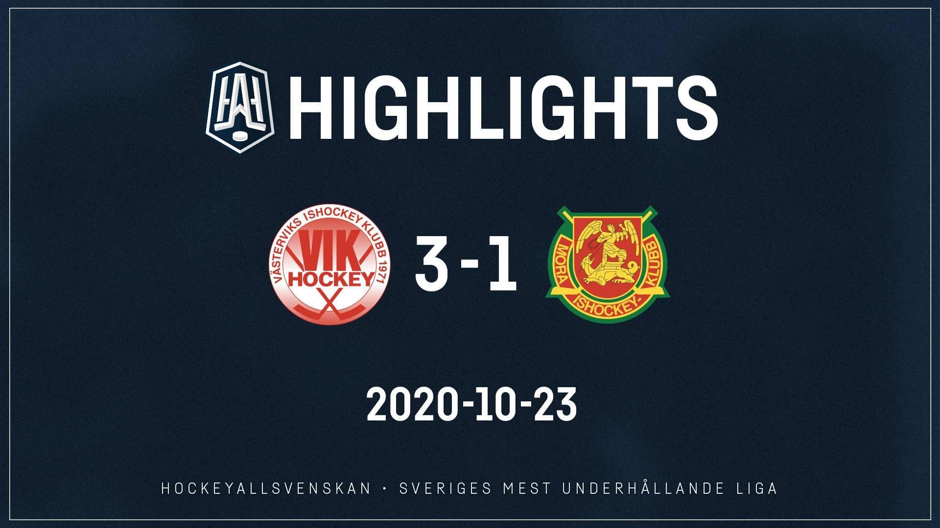 2020-10-23 Västervik - Mora 3-1