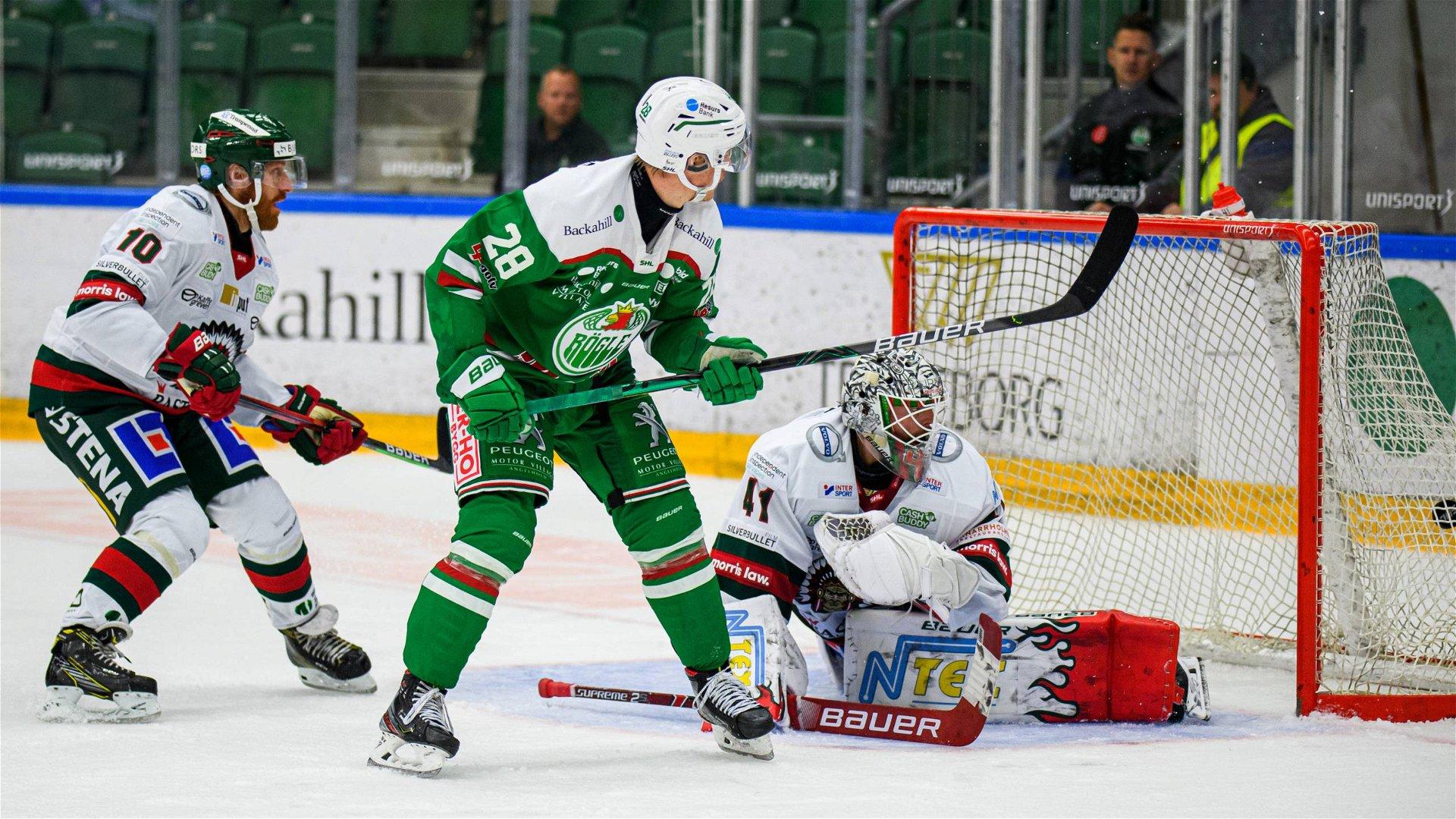 Rögles Anton Bengtsson gör det avgörande målet mot Frölunda.
