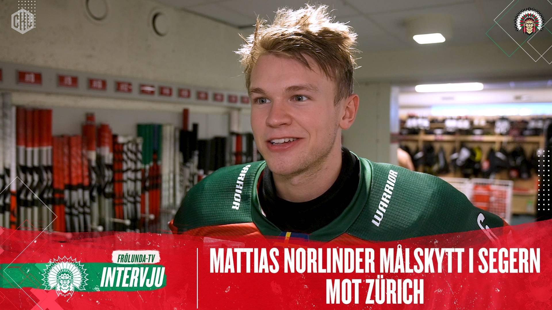 Mattias Norlinder efter Zürich