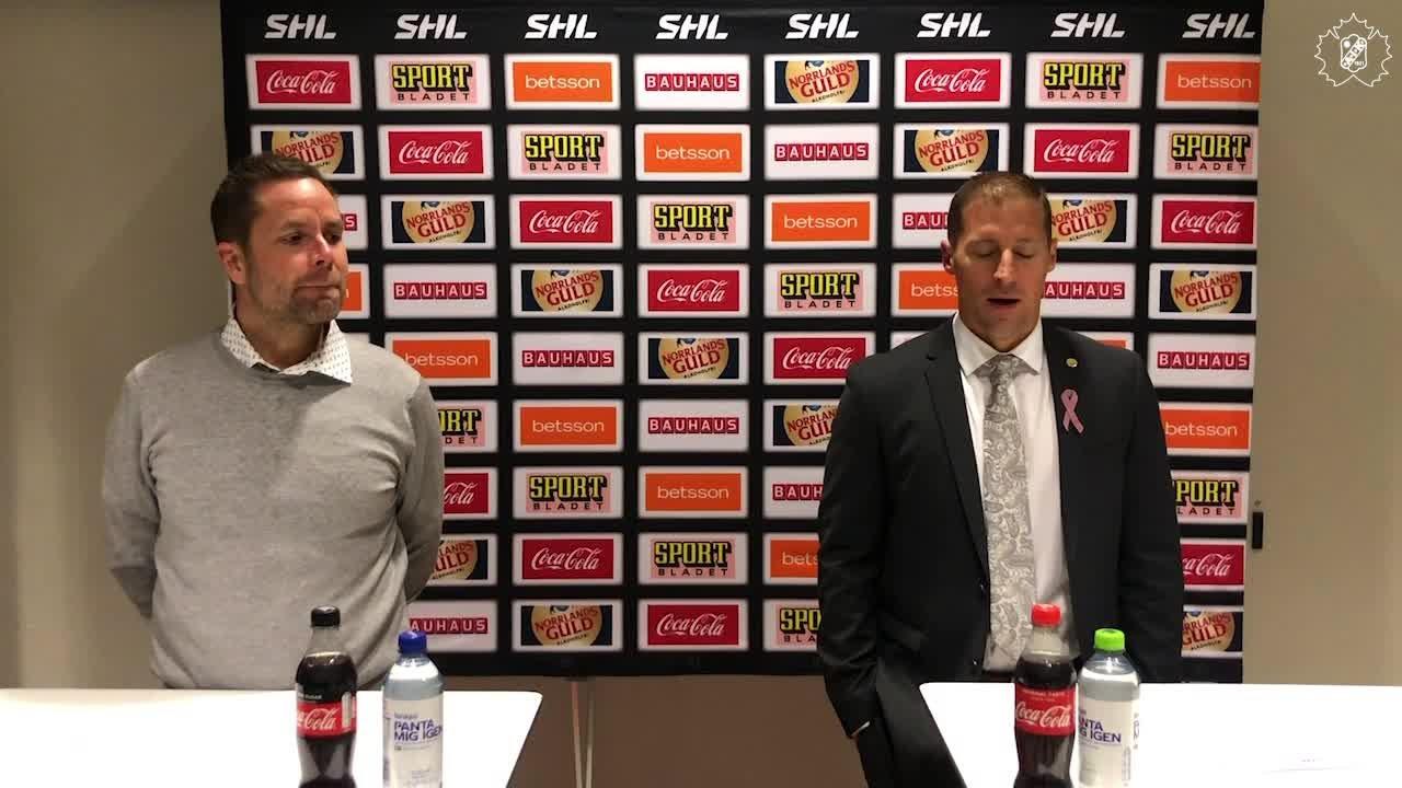 Presskonferens efter SKE - RBK
