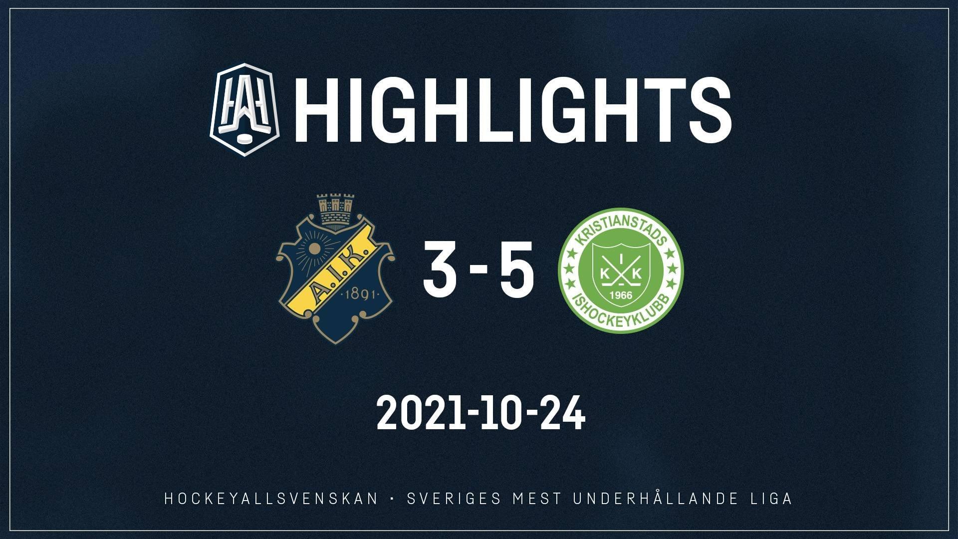 2021-10-24 AIK - Kristianstad 3-5