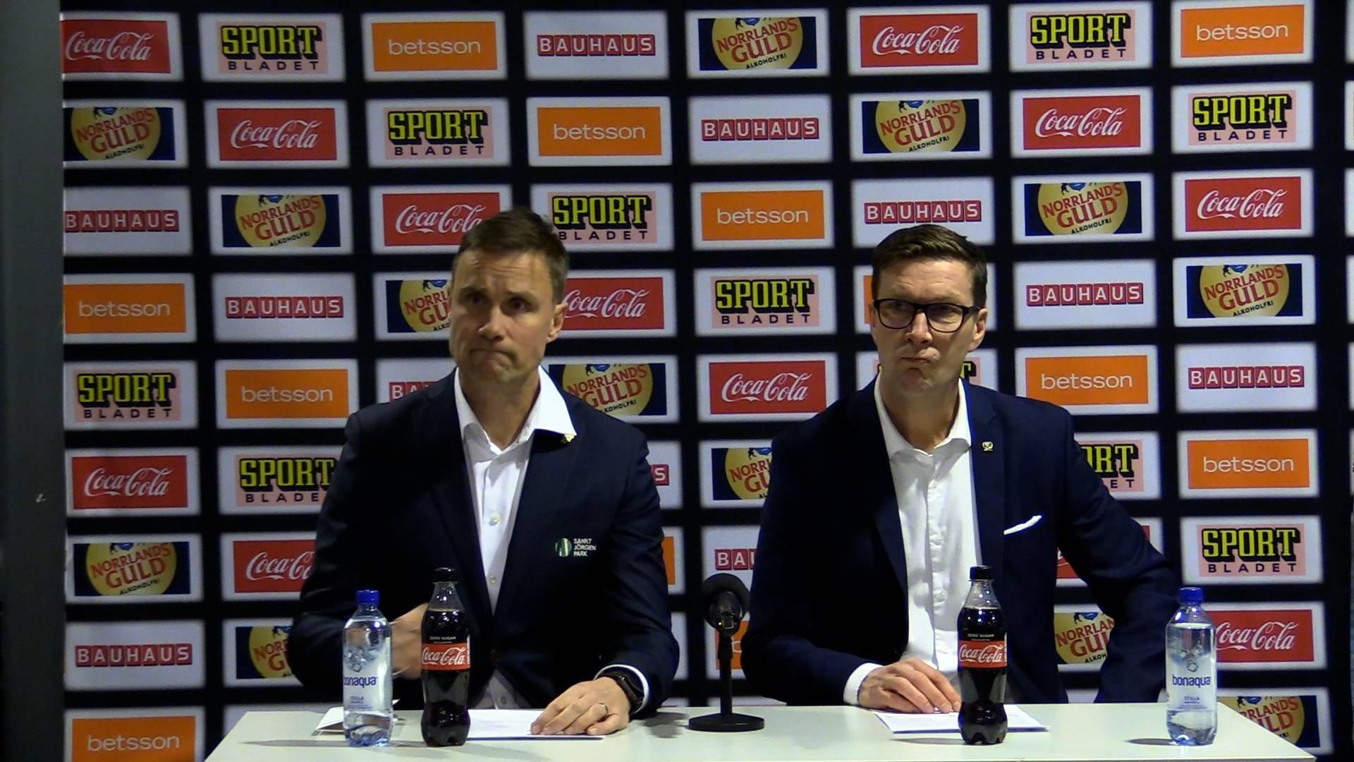 Presskonferens efter Färjestad-Frölunda