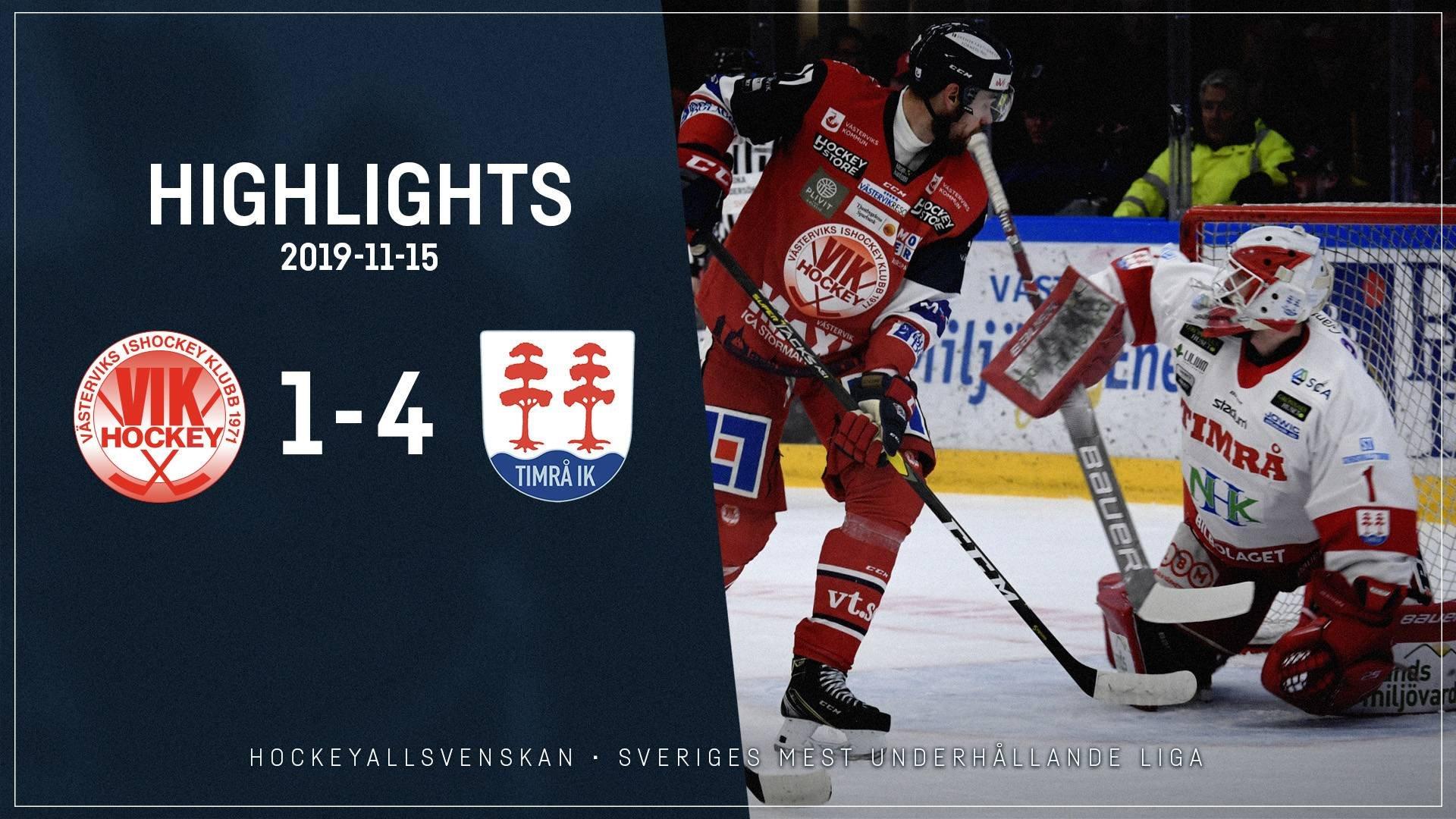 2019-11-15 Västervik - Timrå 1-4