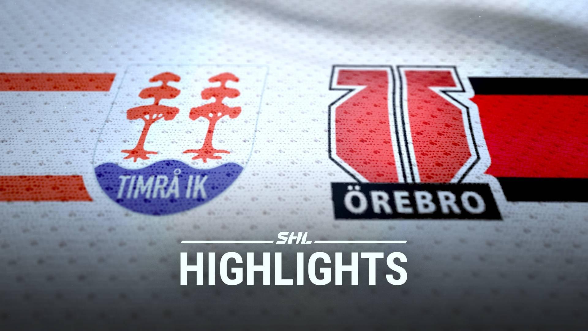 TV: Timrå IK - Örebro Hockey