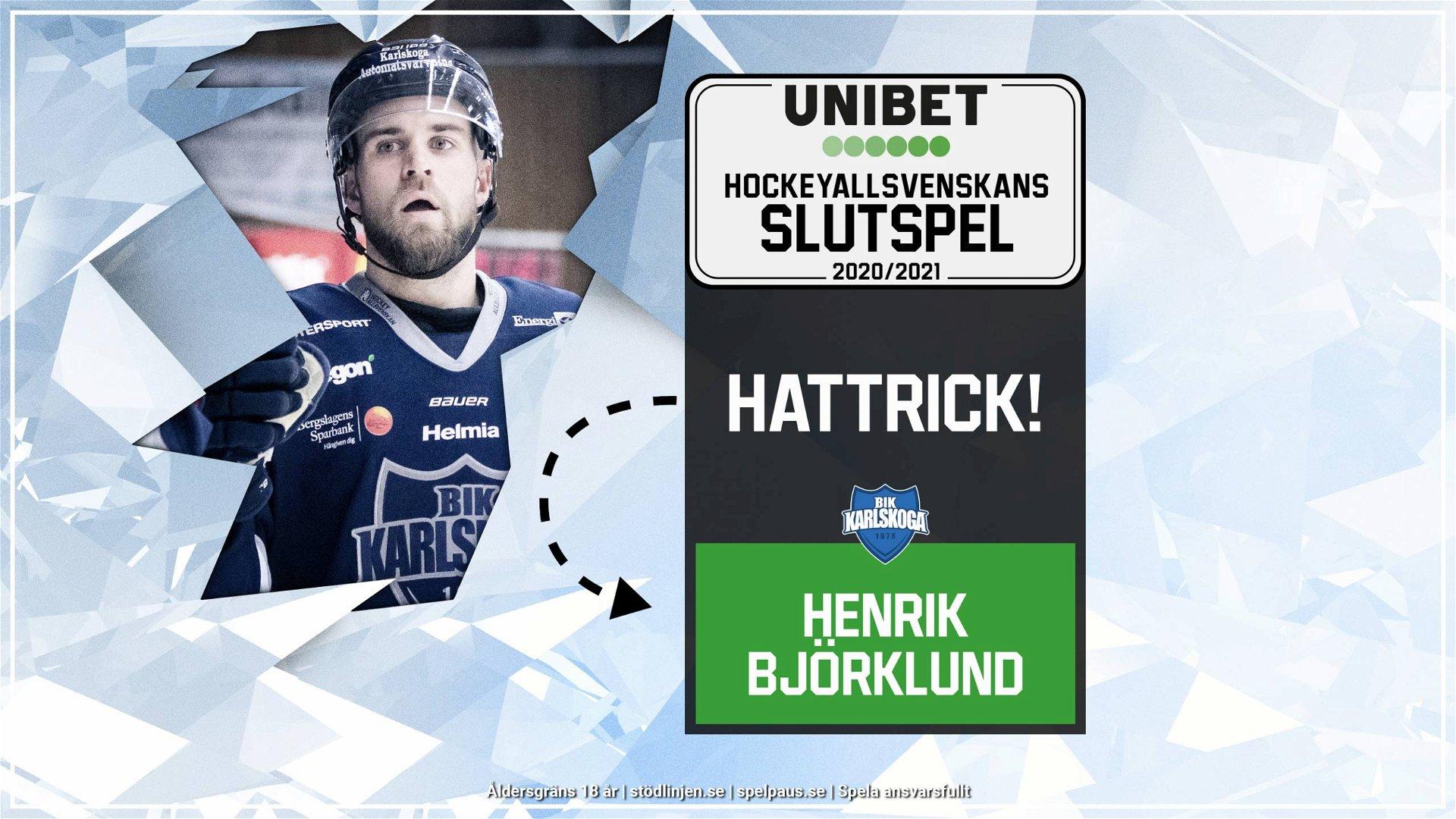 Hattrick: Henrik Björklund, Karlskoga