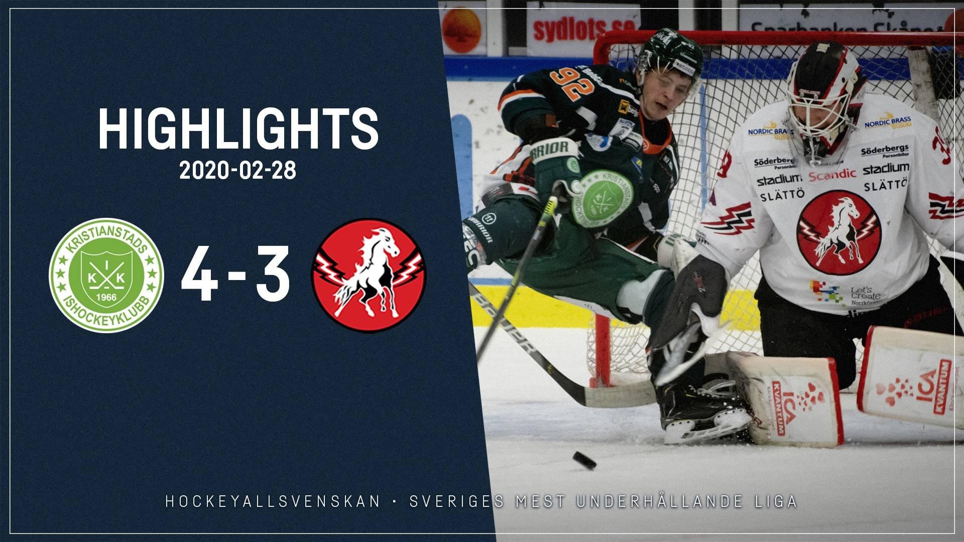 2020-02-28 Kristianstad - Vita Hästen 4-3