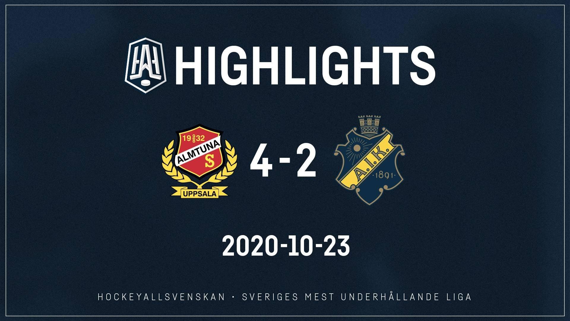 2020-10-23 Almtuna - AIK 4-2