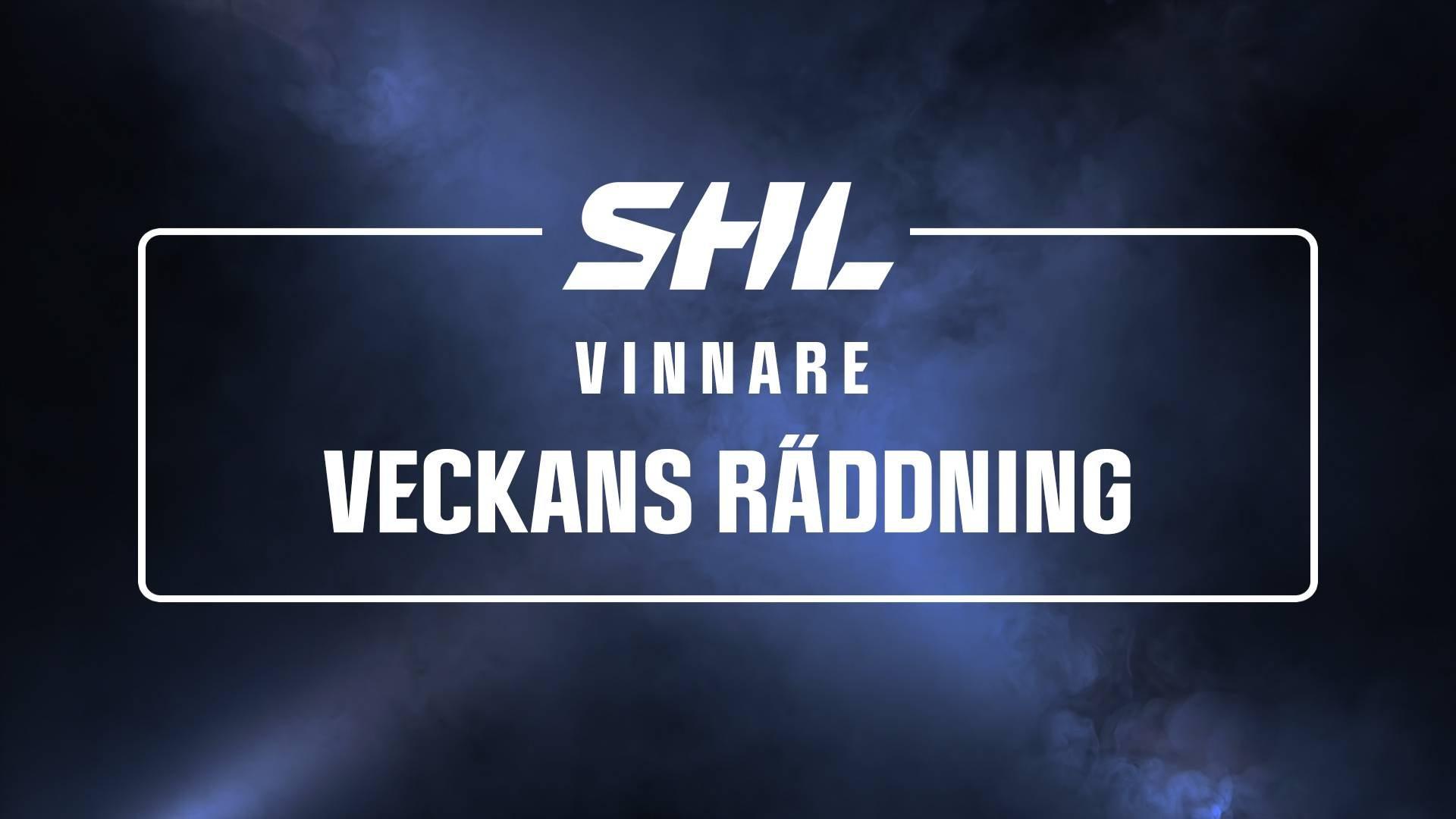 Vinnare Veckans räddning vecka 42 Gustaf Lindvall, Skellefteå