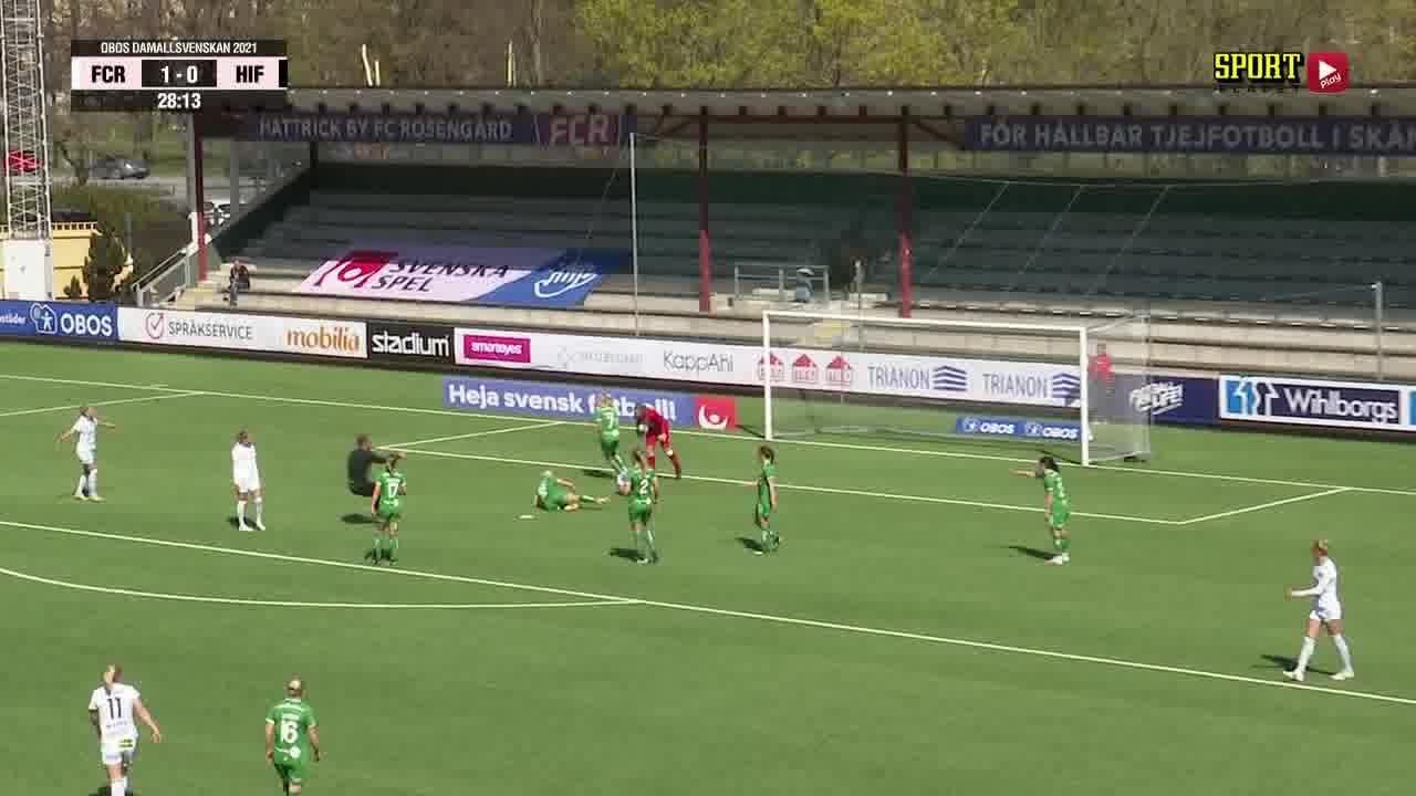 Highlights: FC Rosengård - Hammarby Fotboll