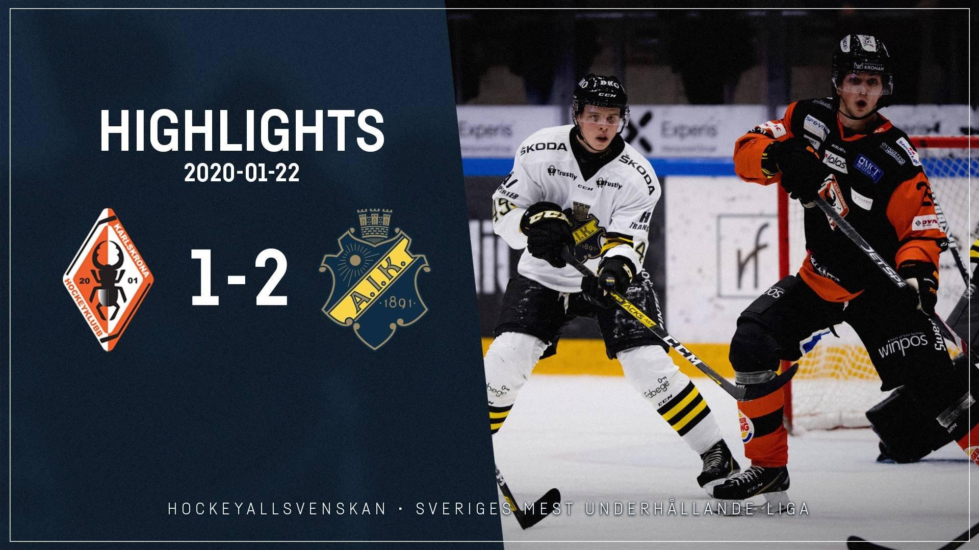 2020-01-22 Karlskrona - AIK 1-2