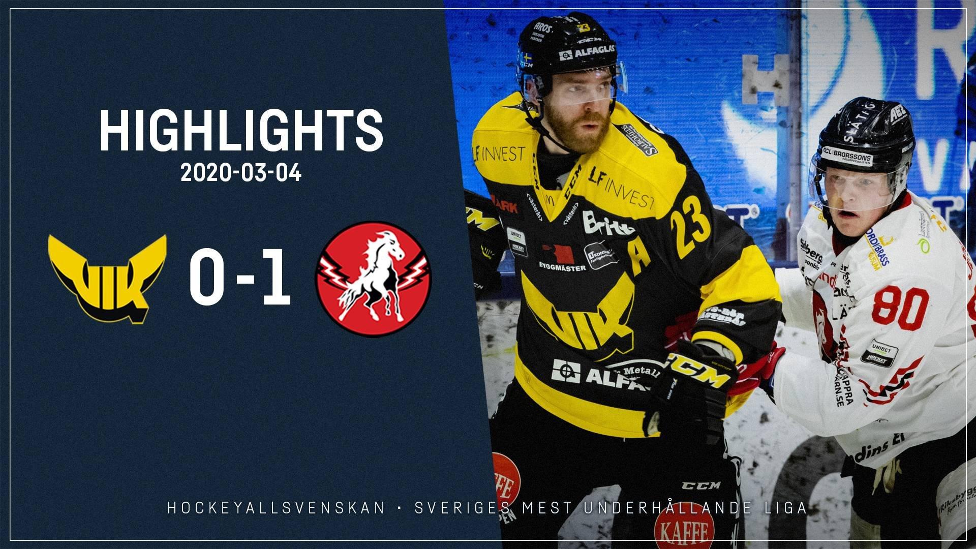 2020-03-04 Västerås - Vita Hästen 0-1