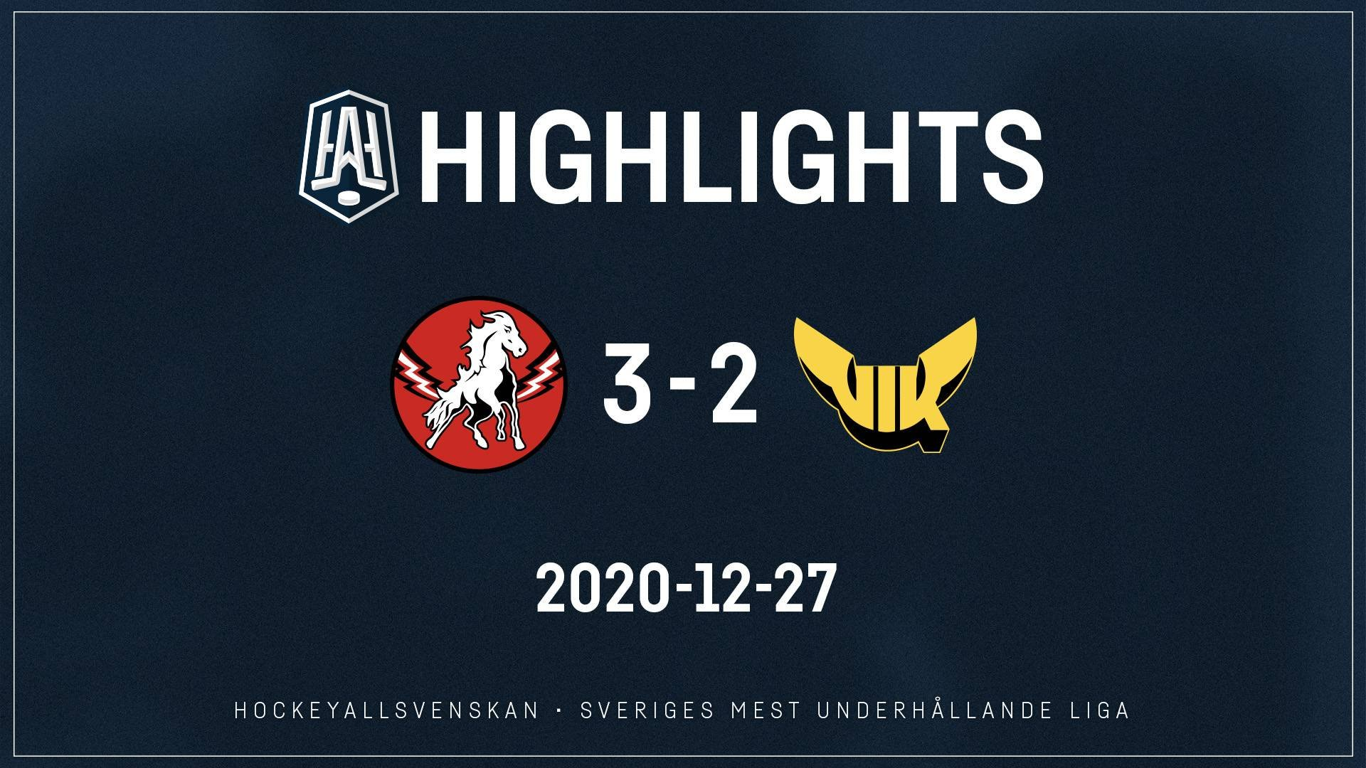 2020-12-27 Vita Hästen - Västerås 3-2