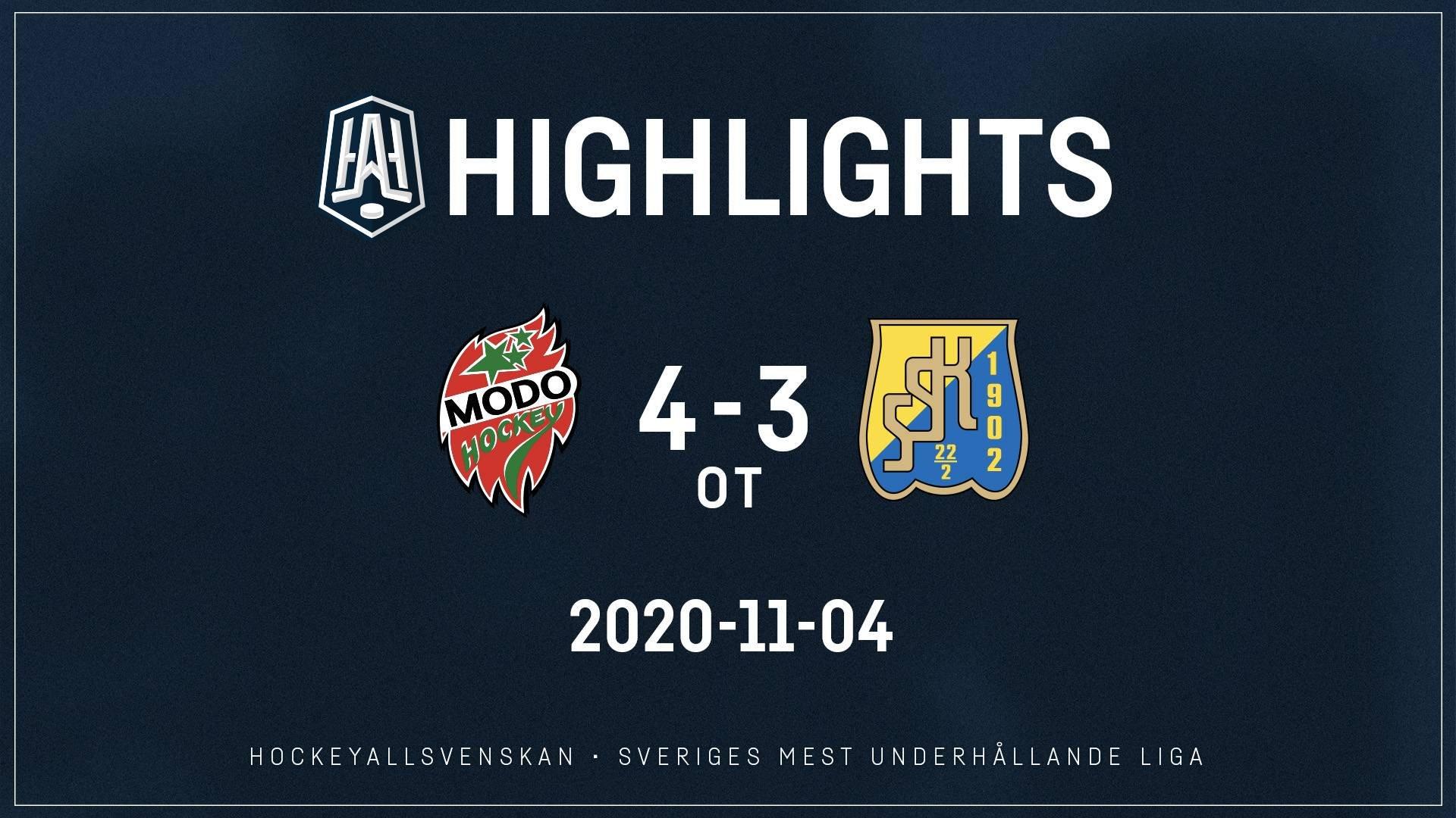 2020-11-04 MODO - Södertälje 4-3 (OT)