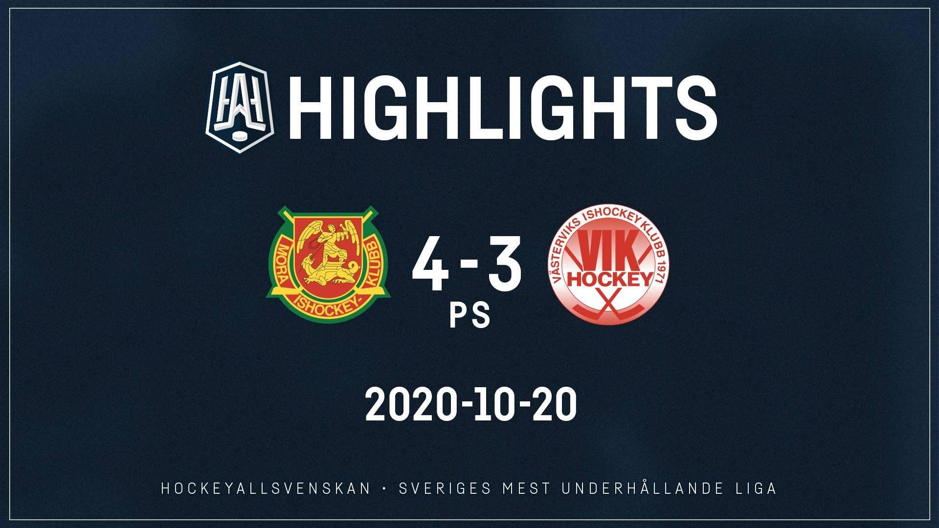 2020-10-20 Mora - Västervik 4-3 (PS)