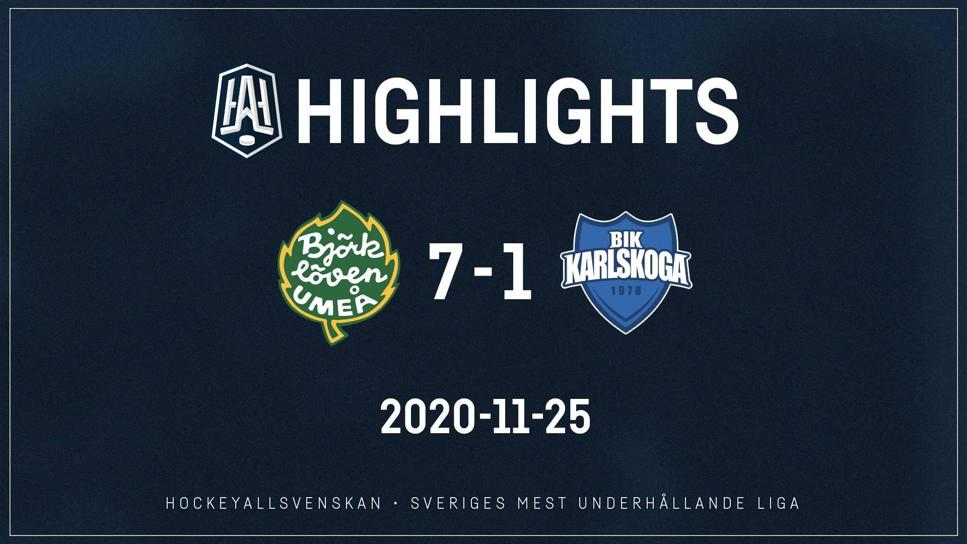 2020-11-25 Björklöven - Karlskoga 7-1